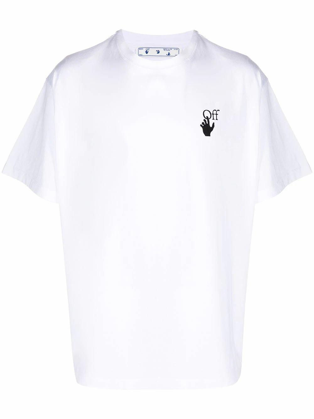 Off-White OFF-WHITE MEN'S WHITE COTTON T-SHIRT