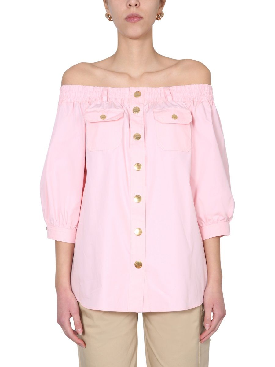 BOUTIQUE MOSCHINO BOUTIQUE MOSCHINO WOMEN'S PINK OTHER MATERIALS SHIRT