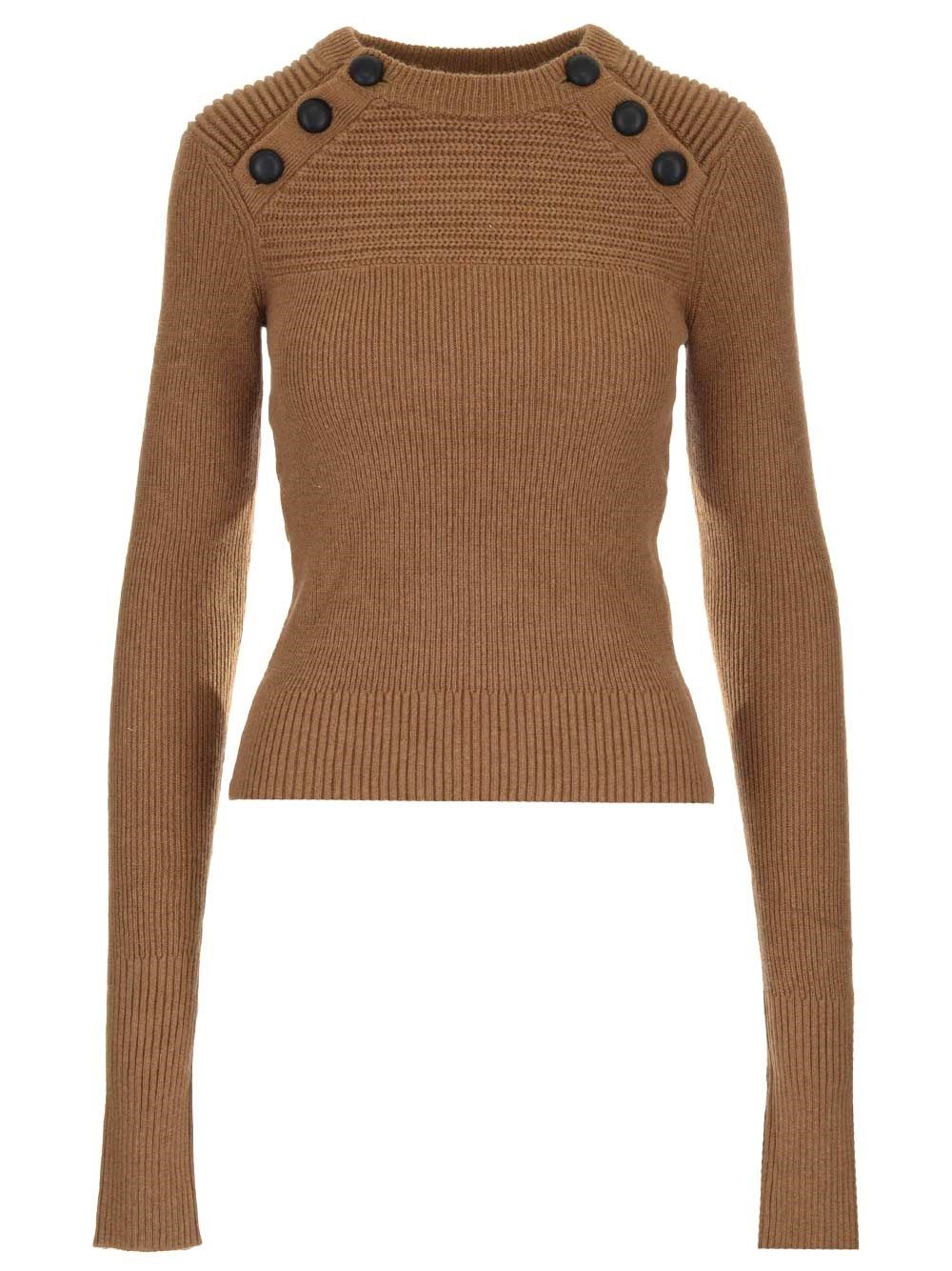 ETOILE ISABEL MARANT ISABEL MARANT ÉTOILE WOMEN'S BROWN COTTON SWEATER