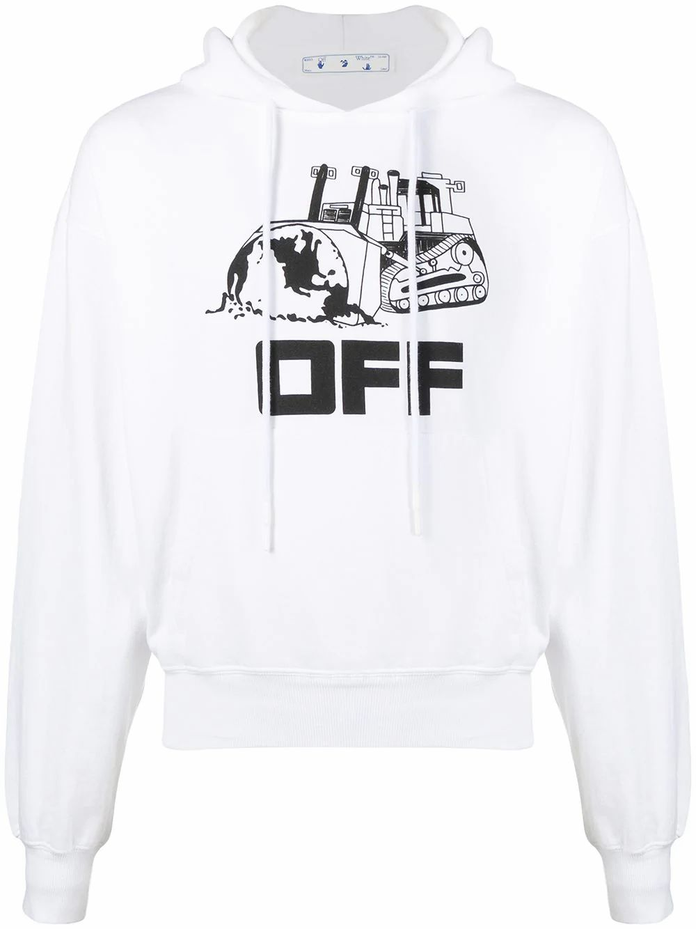 Off-White OFF-WHITE MEN'S WHITE COTTON SWEATSHIRT