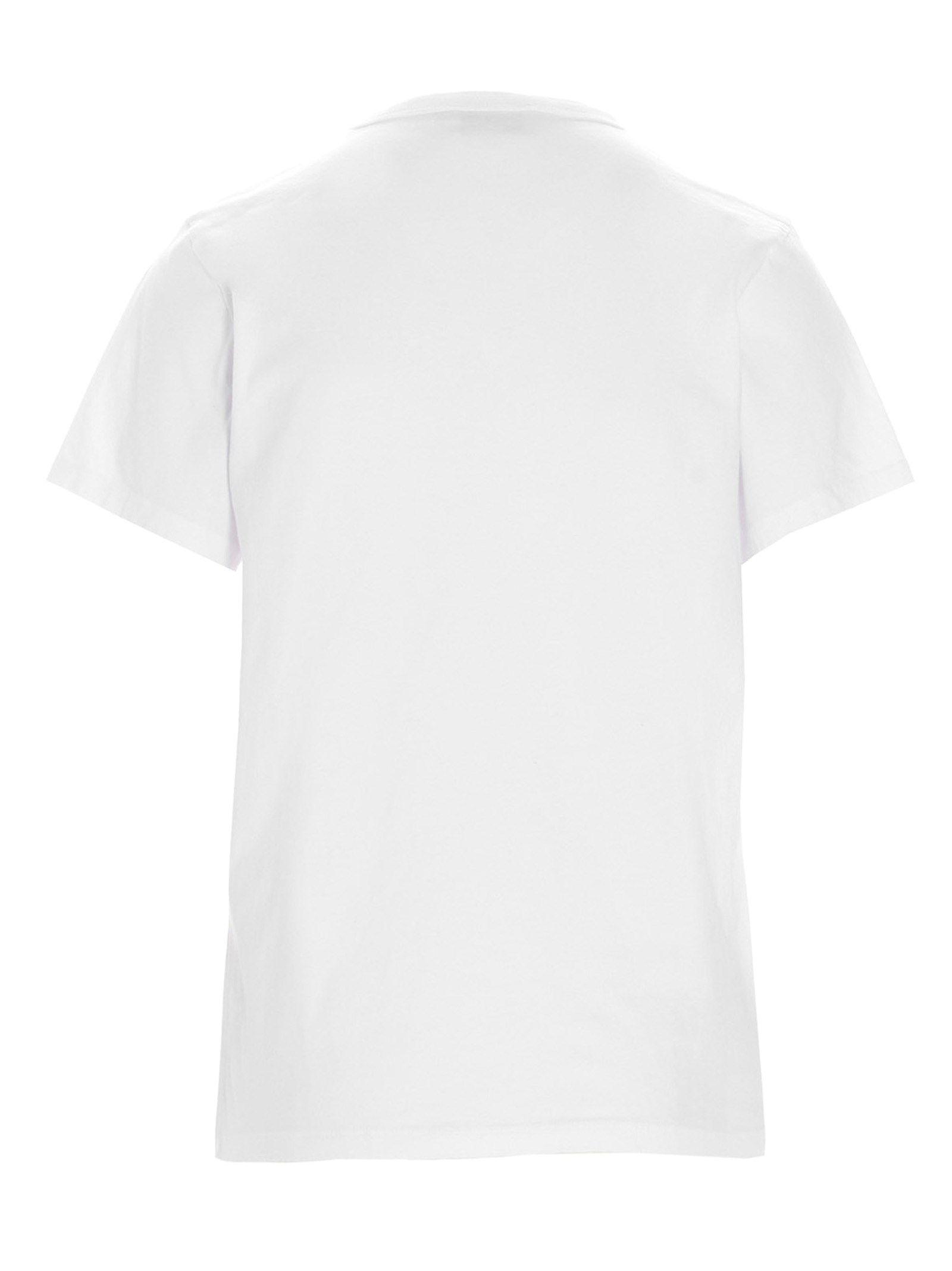 MAISON KITSUNÉ Cottons MAISON KITSUNÉ WOMEN'S WHITE OTHER MATERIALS T-SHIRT