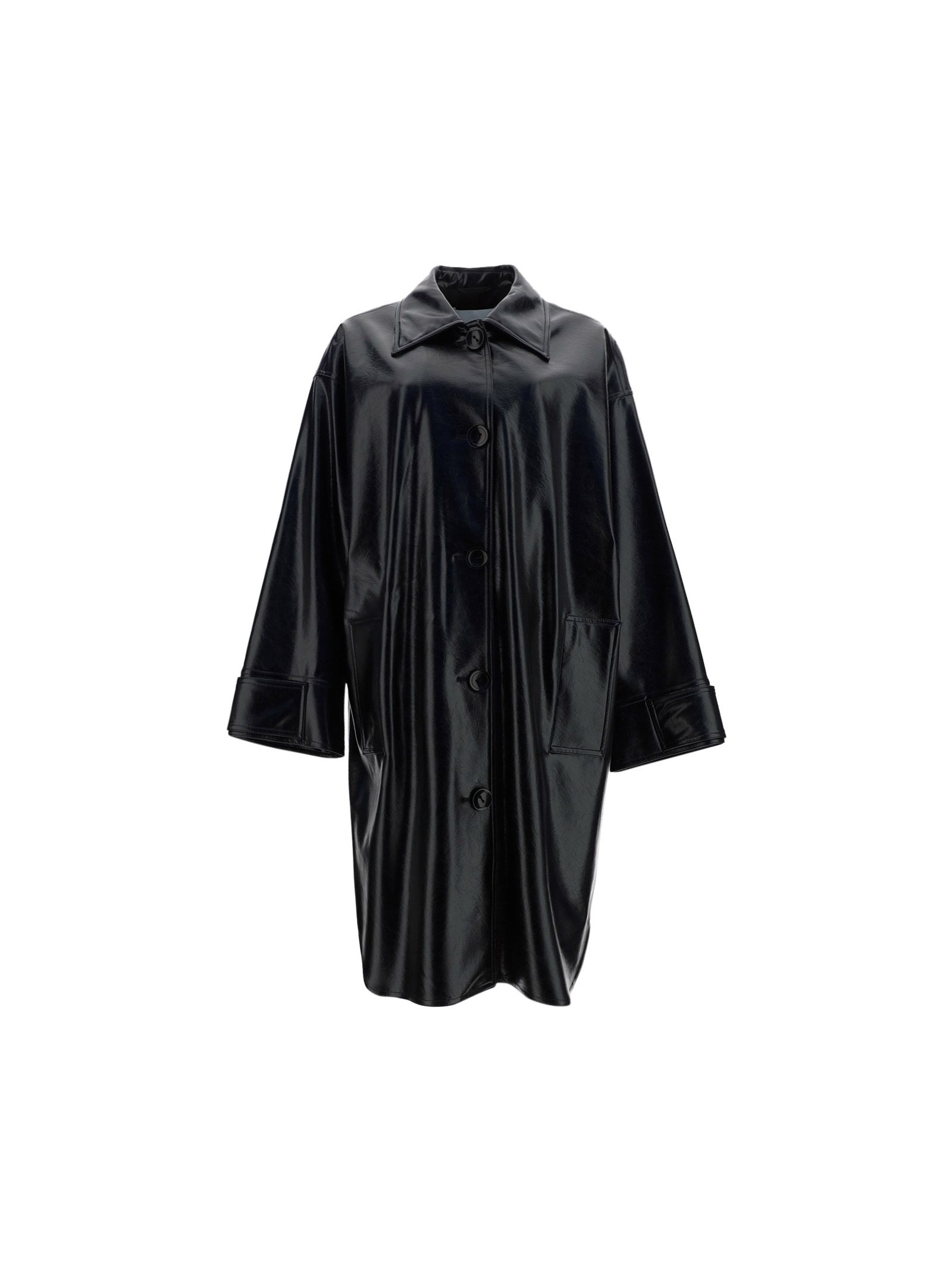 Stand Studio STAND WOMEN'S BLACK OTHER MATERIALS COAT