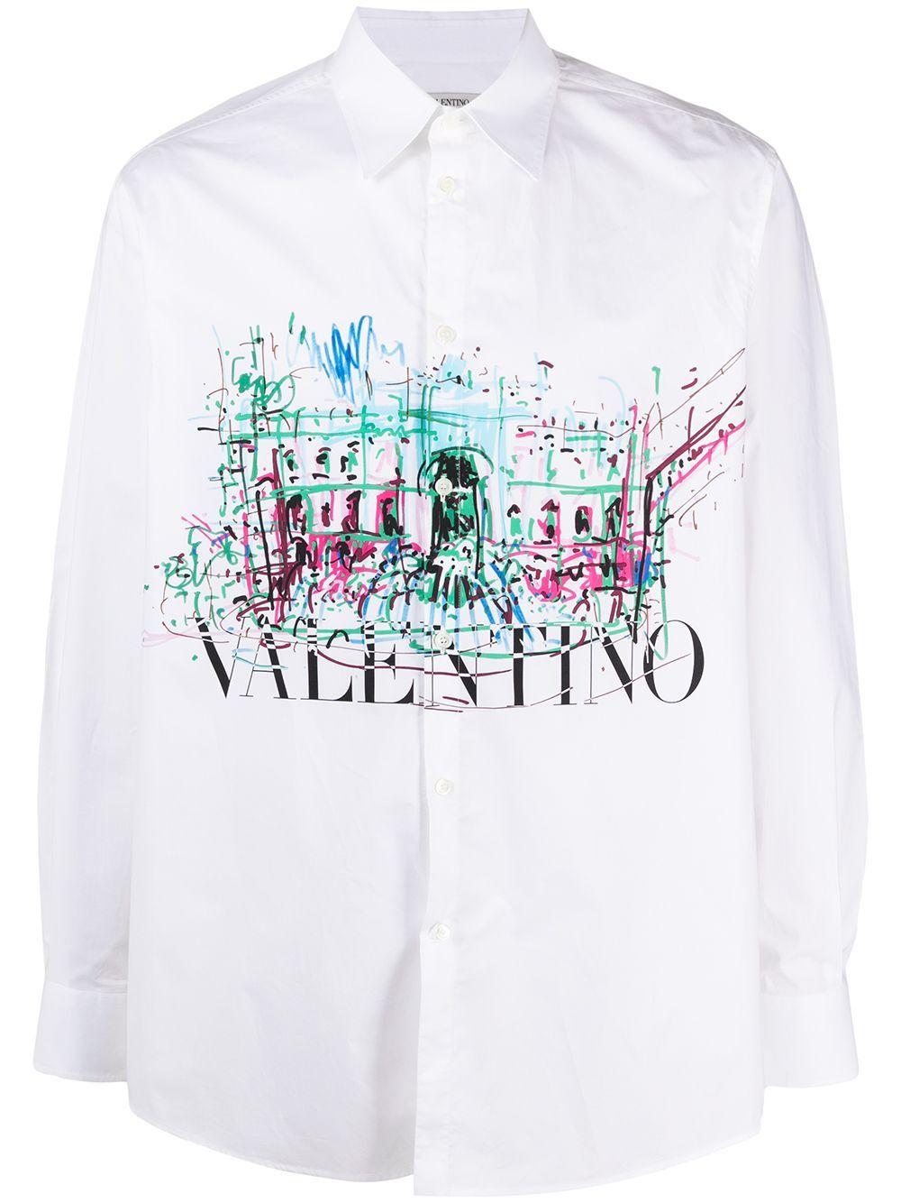 Valentino VALENTINO MEN'S WHITE COTTON SHIRT
