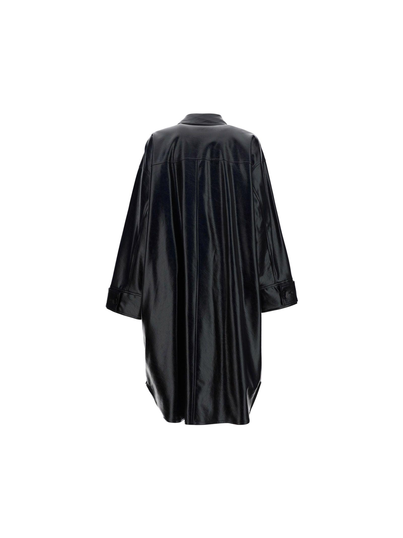 STAND STUDIO Coats STAND WOMEN'S BLACK OTHER MATERIALS COAT
