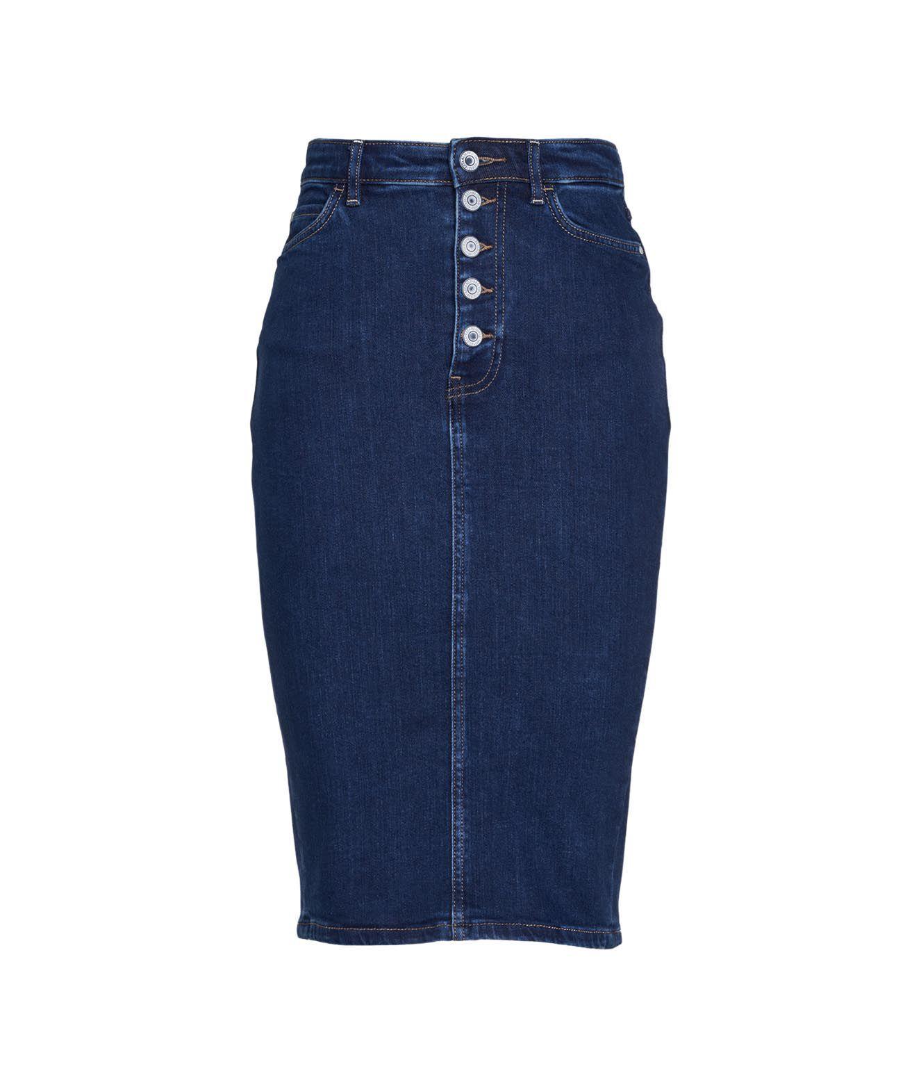 Guess Skirts GUESS WOMEN'S BLUE OTHER MATERIALS SKIRT