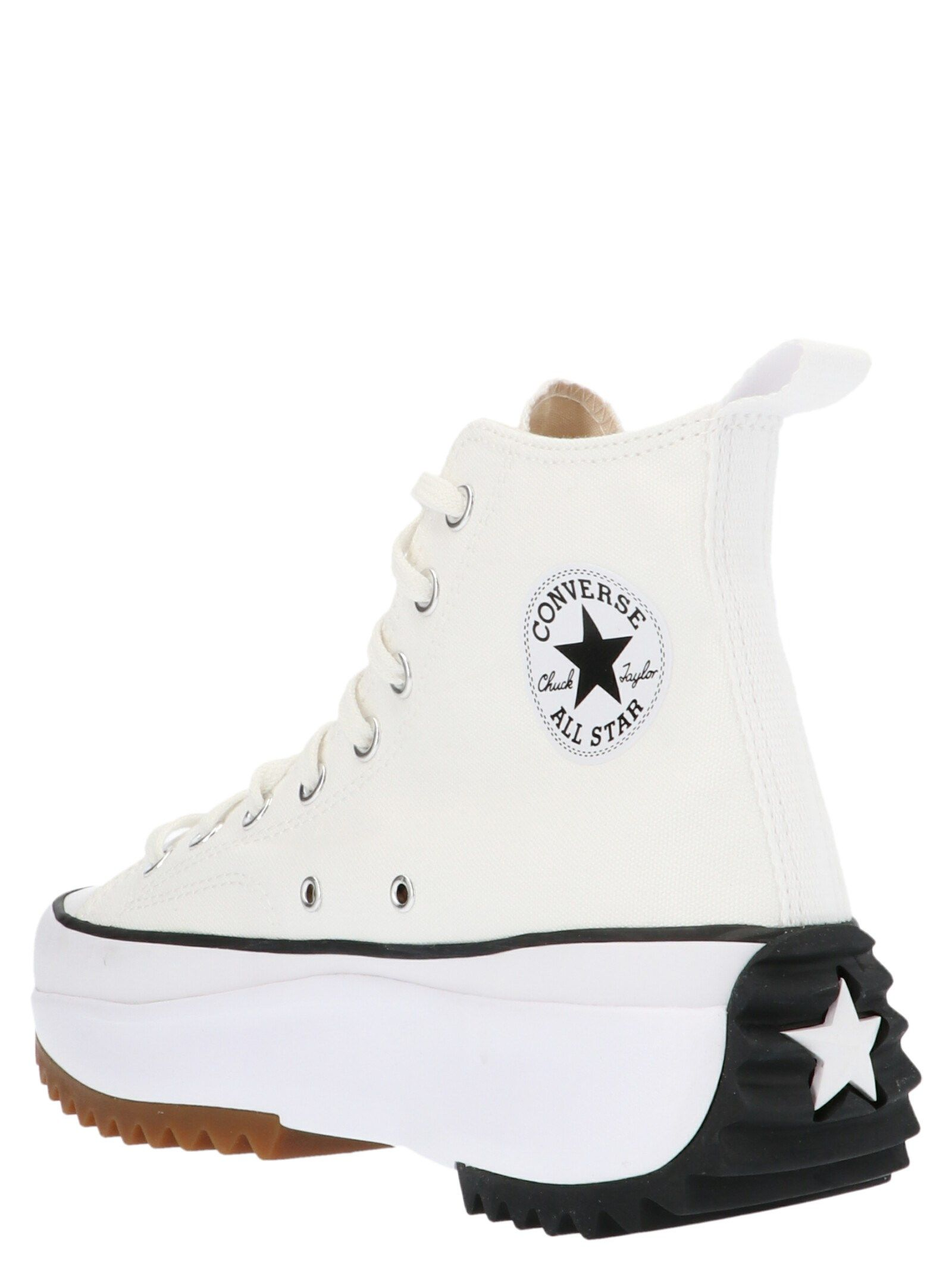 CONVERSE Mid heels CONVERSE WOMEN'S WHITE FABRIC HI TOP SNEAKERS