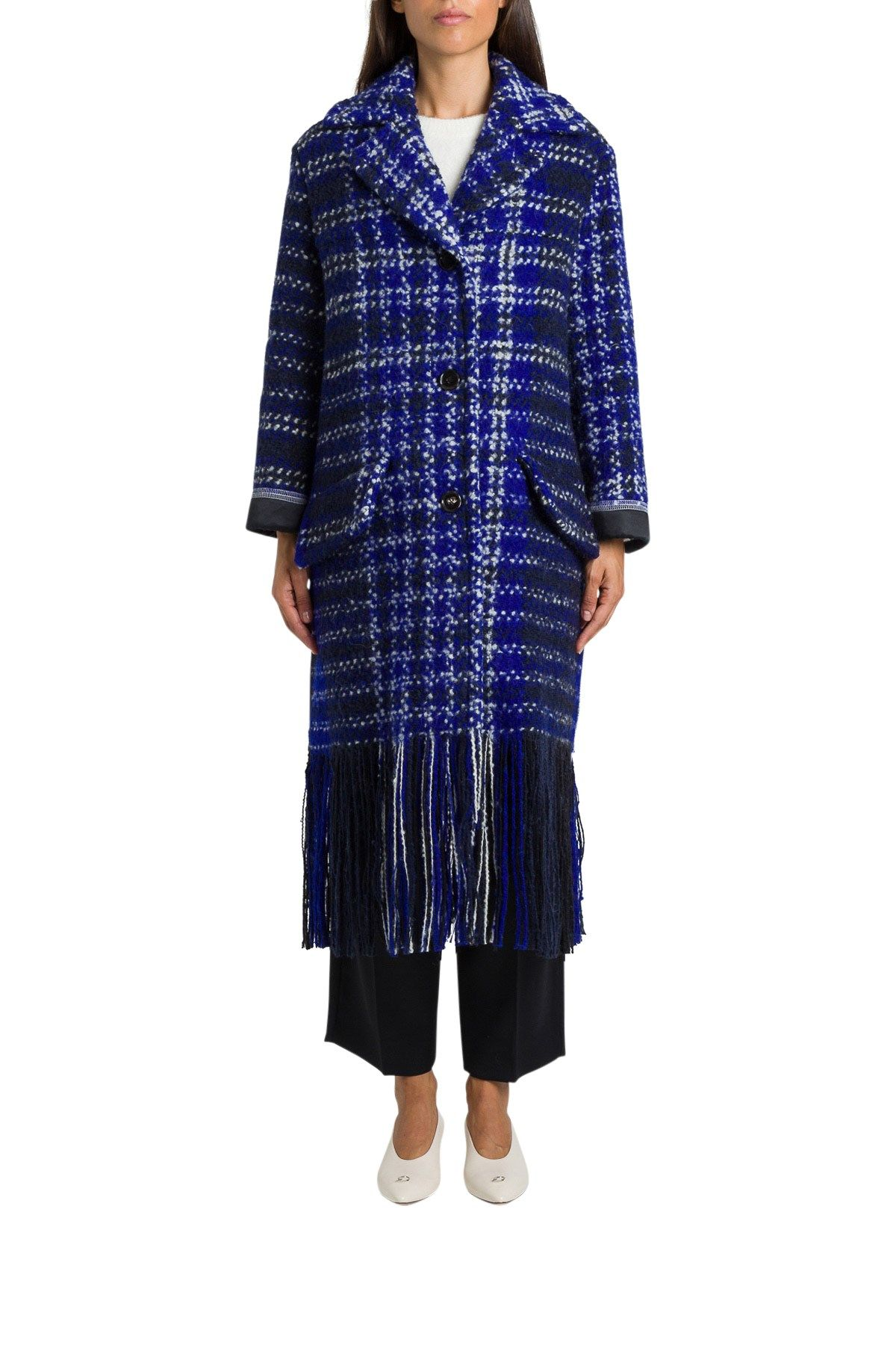 Marni Coats BLUE WOOL COAT