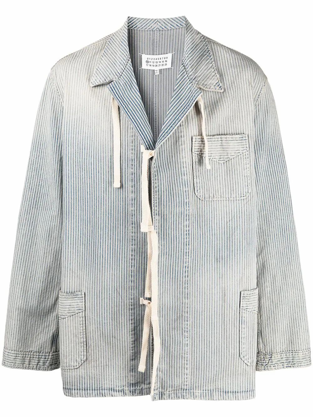 Maison Margiela MAISON MARGIELA MEN'S LIGHT BLUE COTTON JACKET
