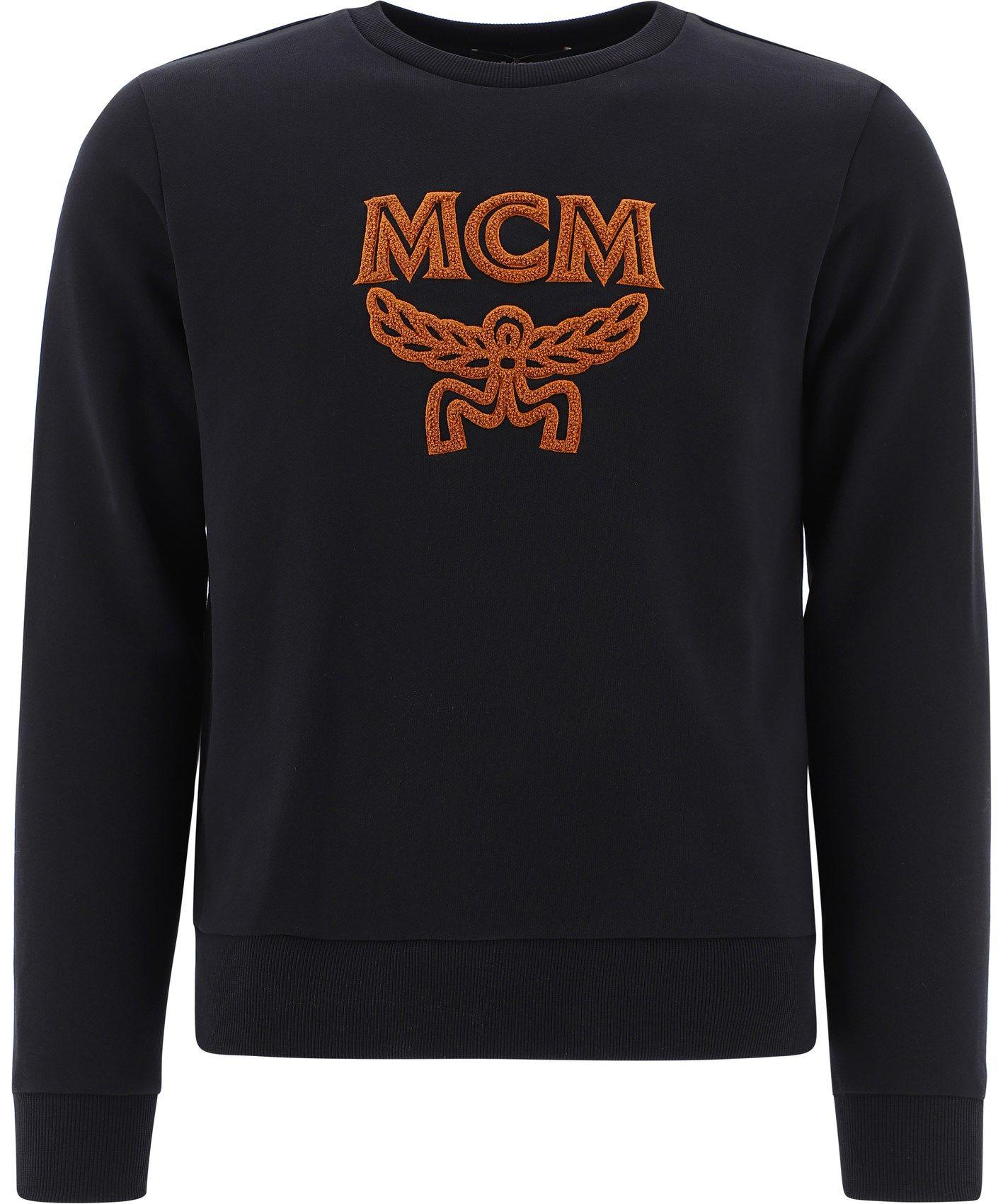 Mcm MCM MEN'S BLACK OTHER MATERIALS SWEATSHIRT