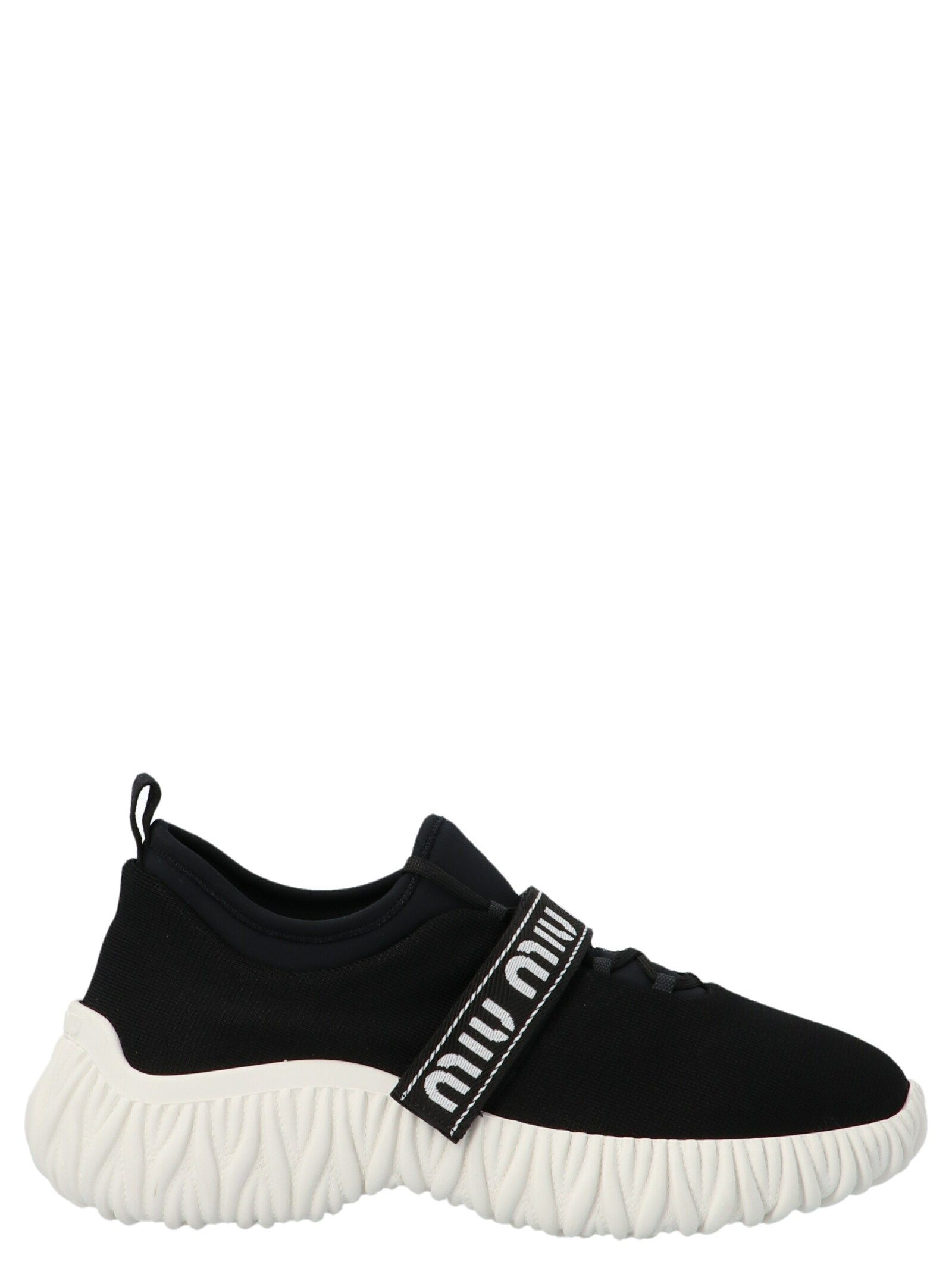 Miu Miu MIU MIU WOMEN'S WHITE OTHER MATERIALS SNEAKERS
