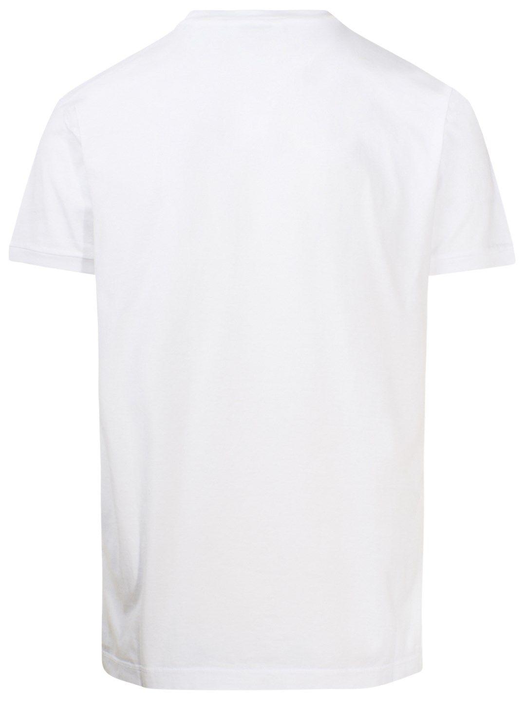 DSQUARED2 Cottons DSQUARED2 MEN'S WHITE COTTON T-SHIRT