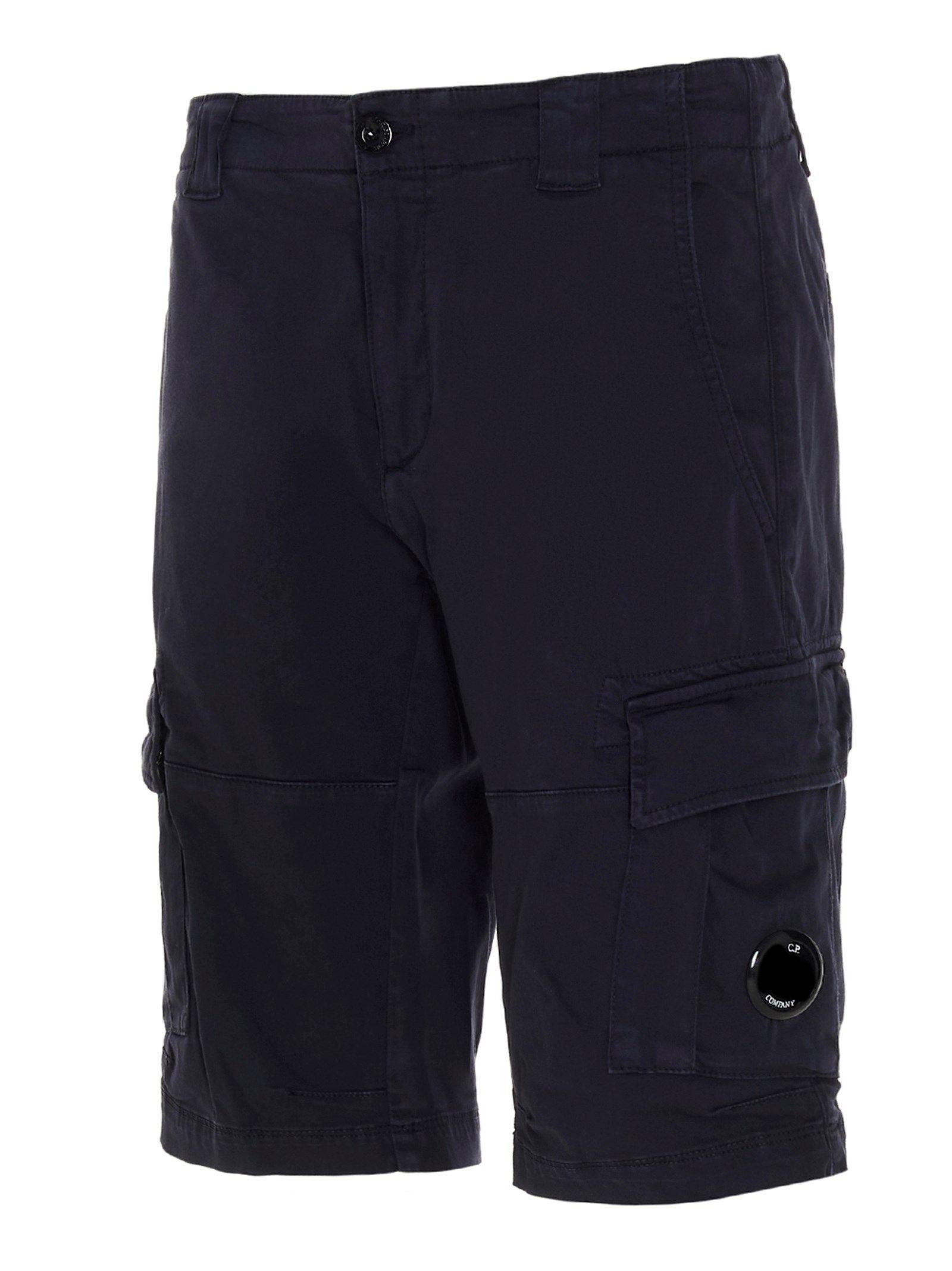 C.P. COMPANY Shorts CP COMPANY MEN'S BLUE OTHER MATERIALS SHORTS