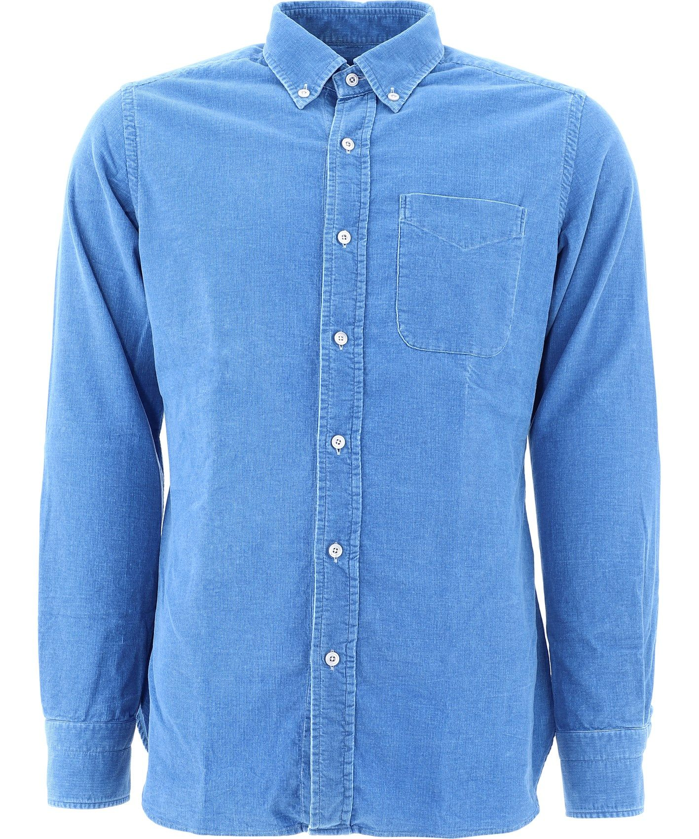 TOM FORD TOM FORD MEN'S LIGHT BLUE COTTON SHIRT
