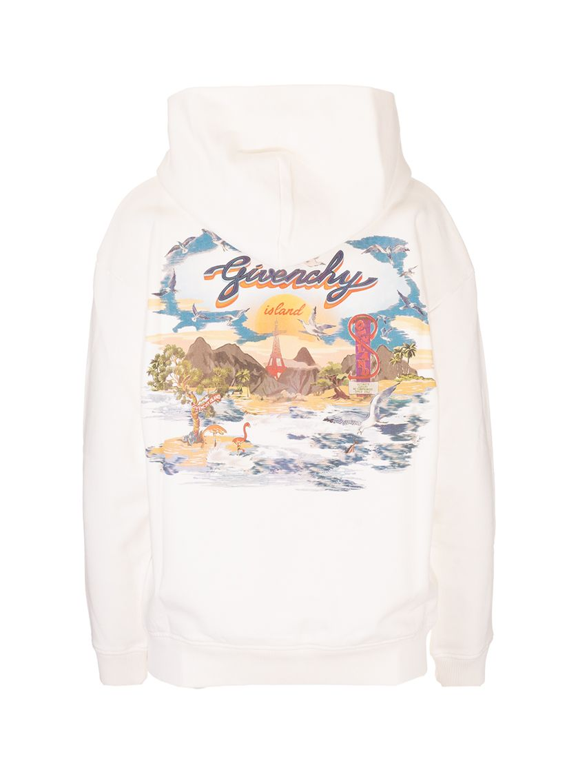 GIVENCHY Sweatshirts GIVENCHY WOMEN'S WHITE OTHER MATERIALS SWEATSHIRT