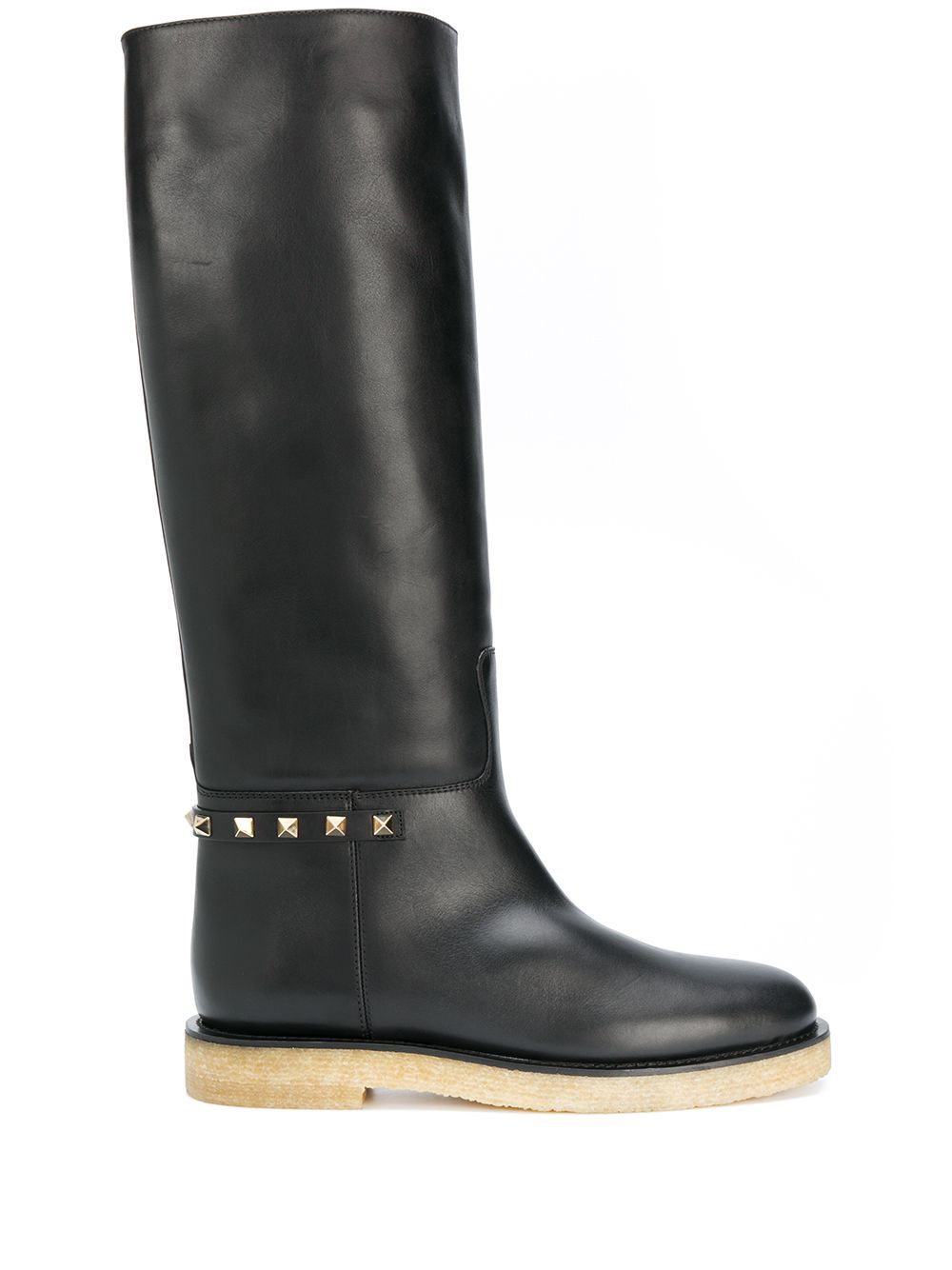 Valentino VALENTINO GARAVANI WOMEN'S BLACK LEATHER BOOTS