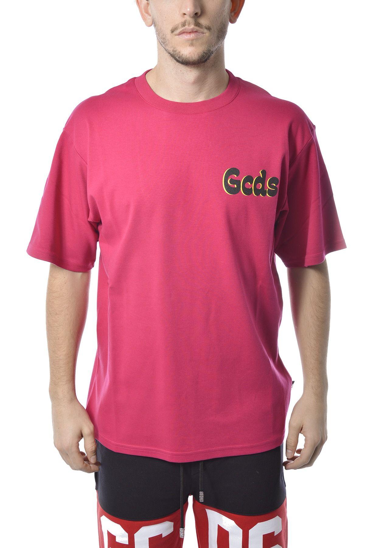 Gcds GCDS MEN'S FUCHSIA COTTON T-SHIRT