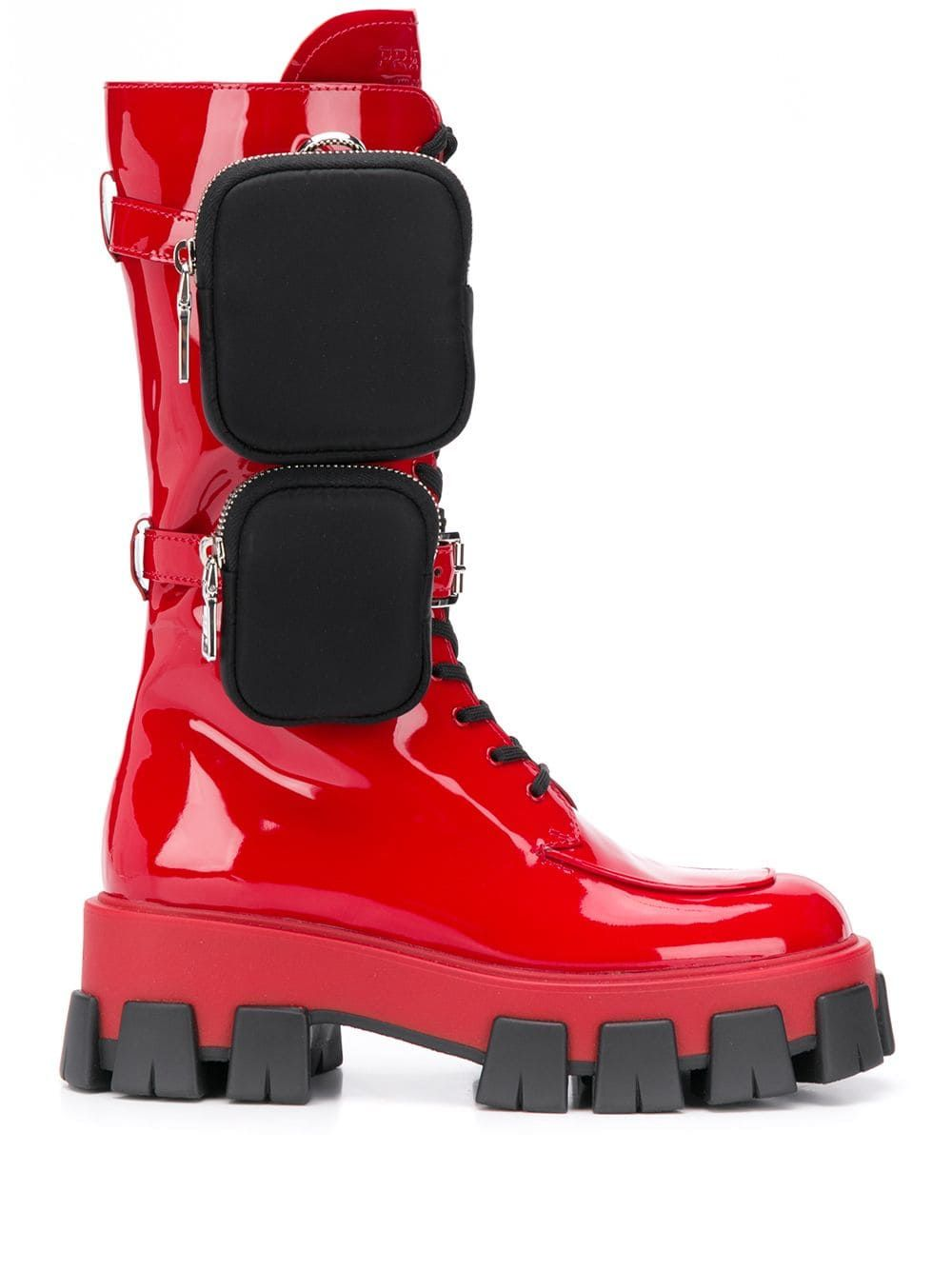 Prada Red Leather Boots   ModeSens
