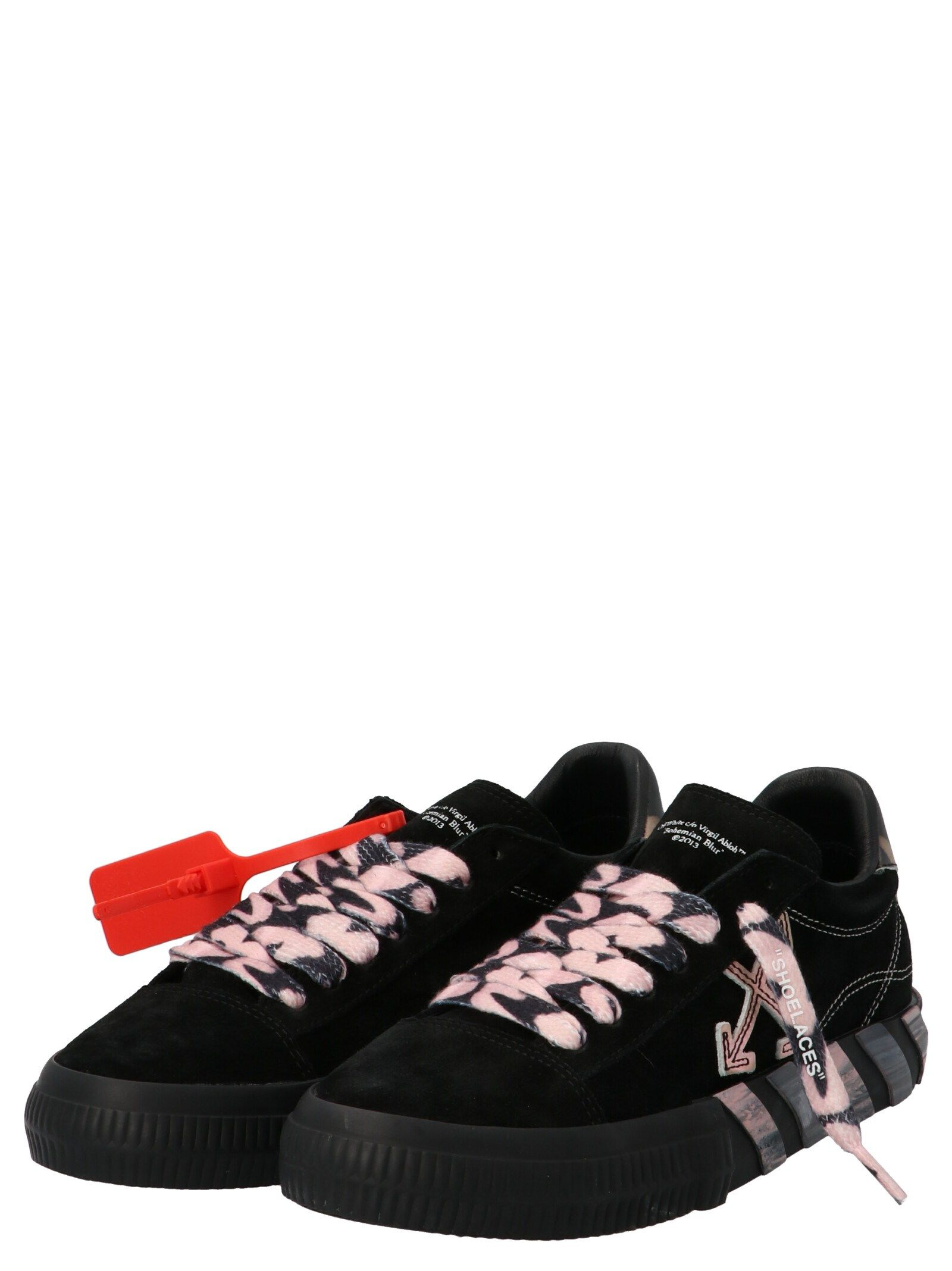 OFF-WHITE Leathers OFF-WHITE WOMEN'S BLACK OTHER MATERIALS SNEAKERS
