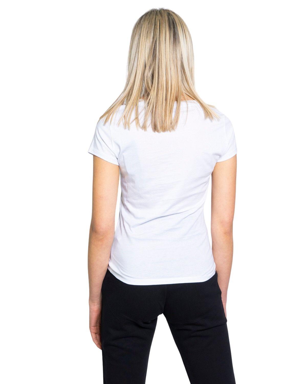 ARMANI EXCHANGE Cottons ARMANI EXCHANGE WOMEN'S WHITE COTTON T-SHIRT