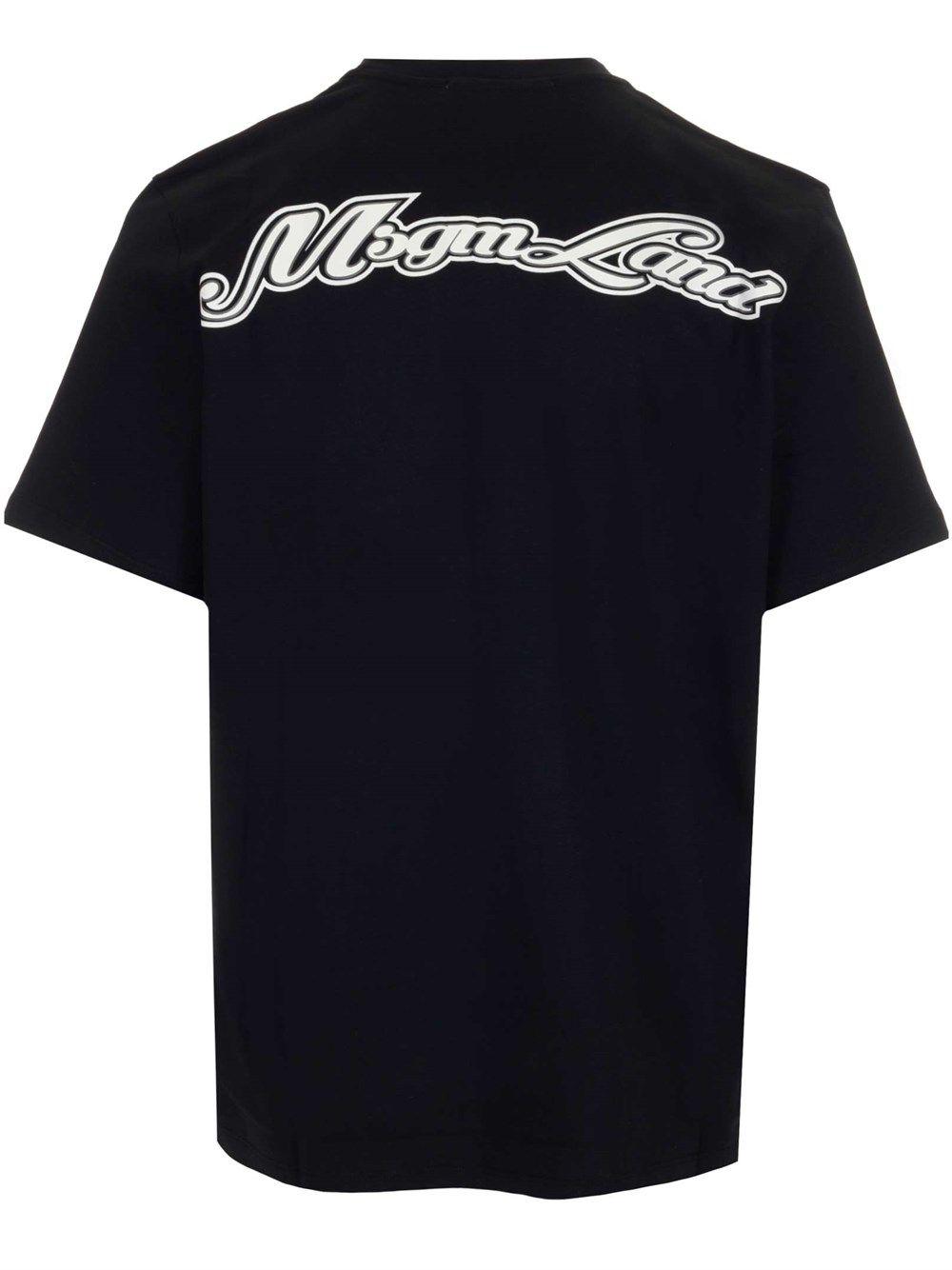 MSGM Cottons MSGM MEN'S BLACK OTHER MATERIALS T-SHIRT