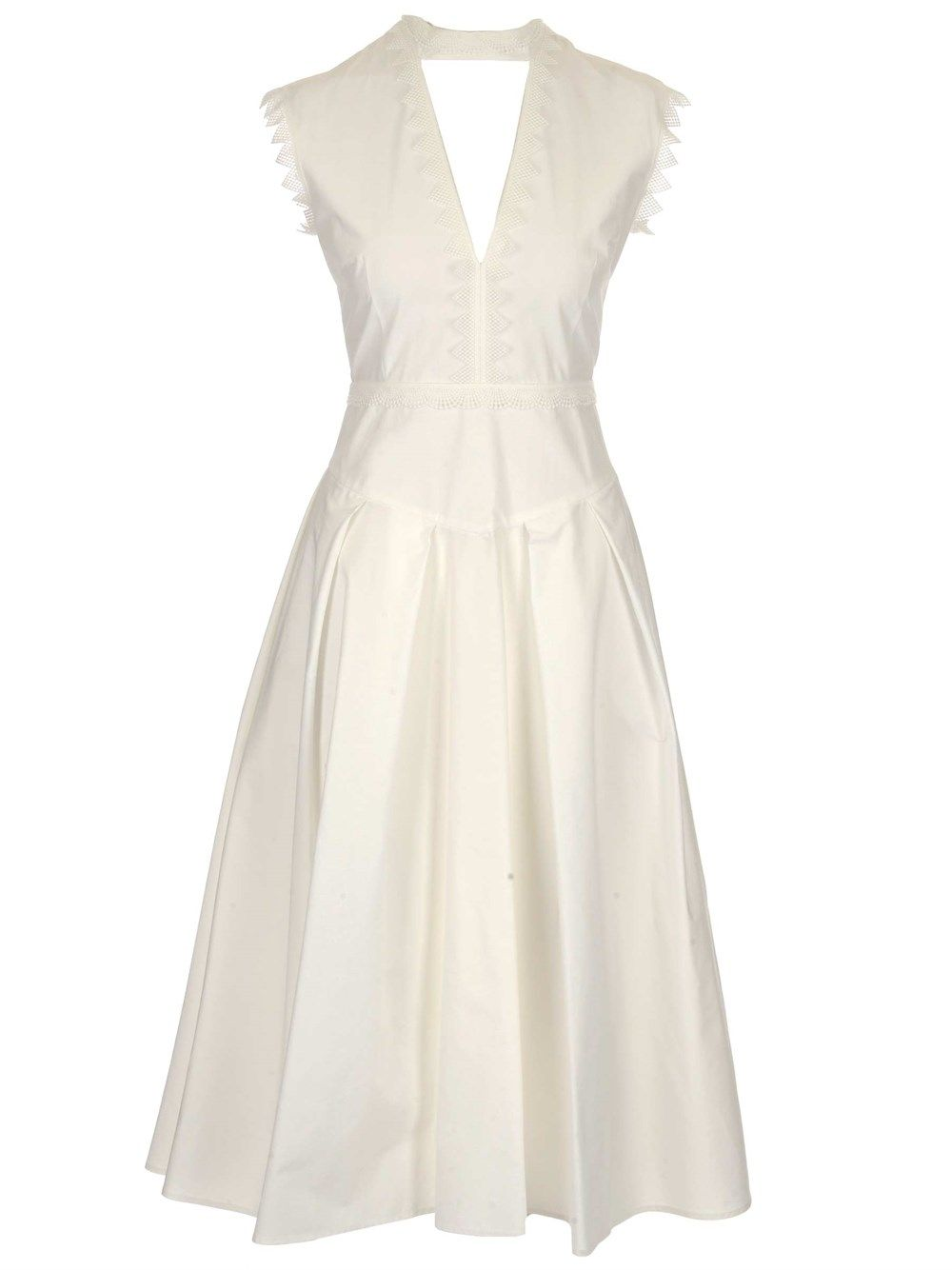 Msgm MSGM WOMEN'S WHITE OTHER MATERIALS DRESS