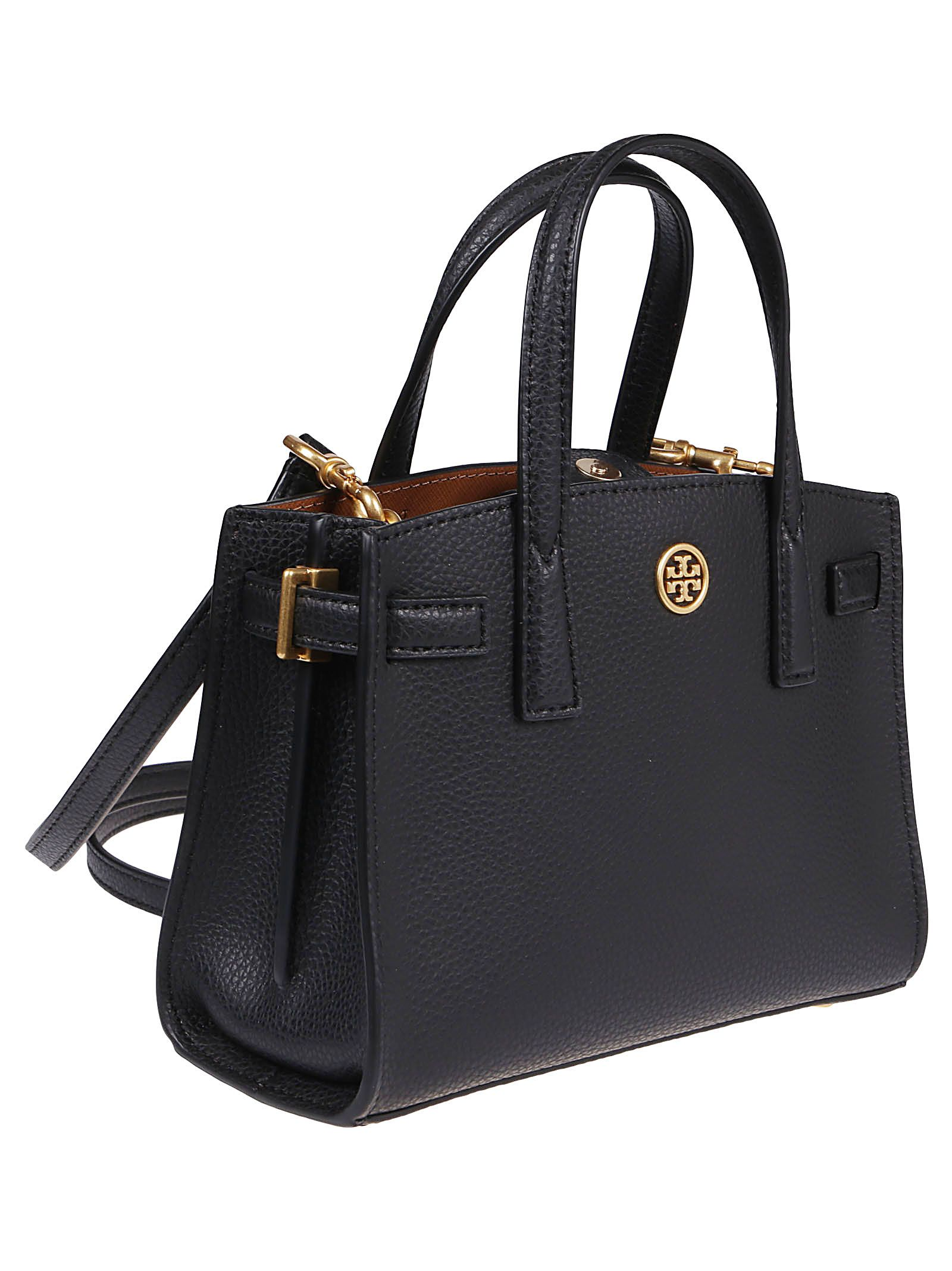 TORY BURCH Leathers TORY BURCH WOMEN'S BLACK OTHER MATERIALS TOTE