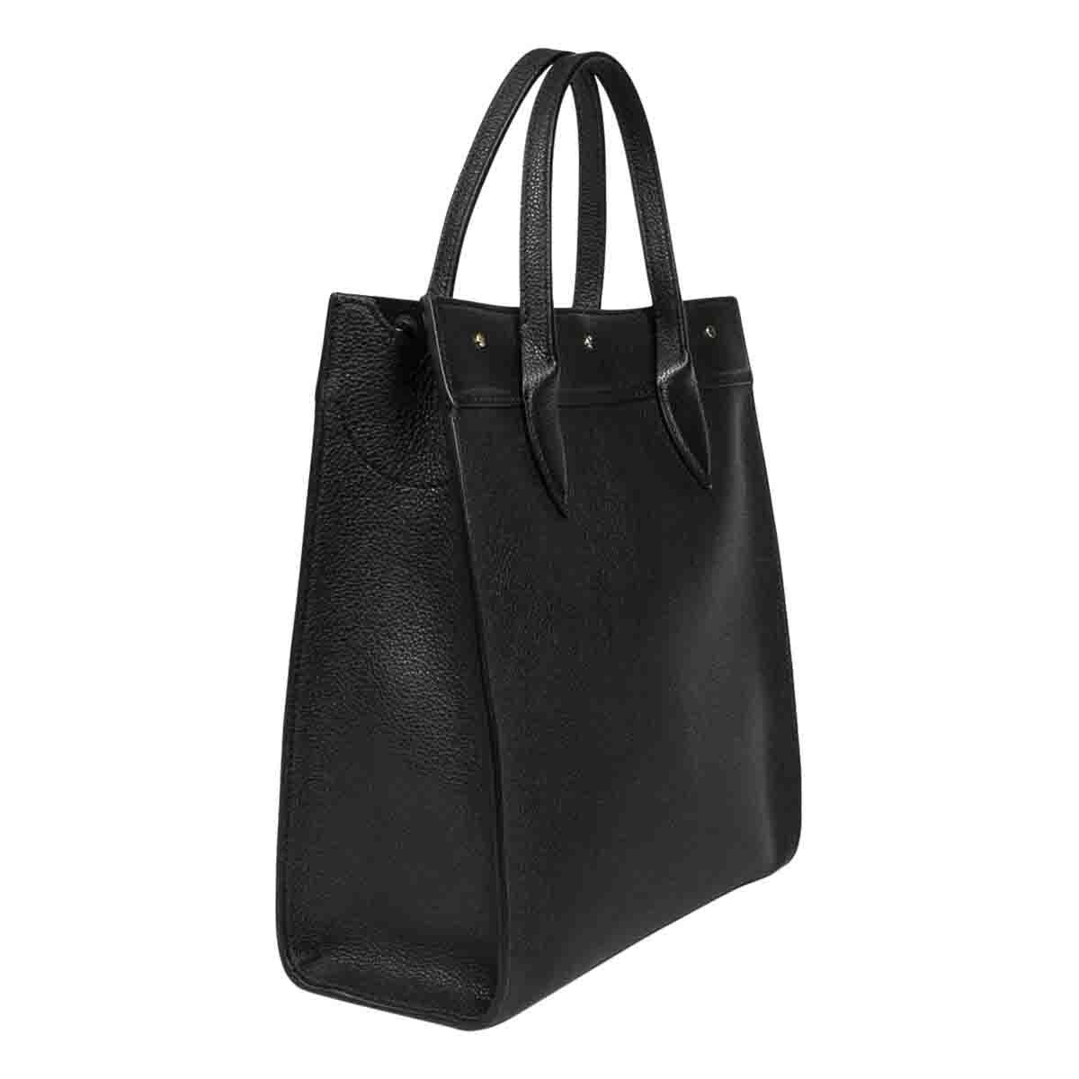 BORBONESE Leathers BORBONESE WOMEN'S BLACK LEATHER HANDBAG