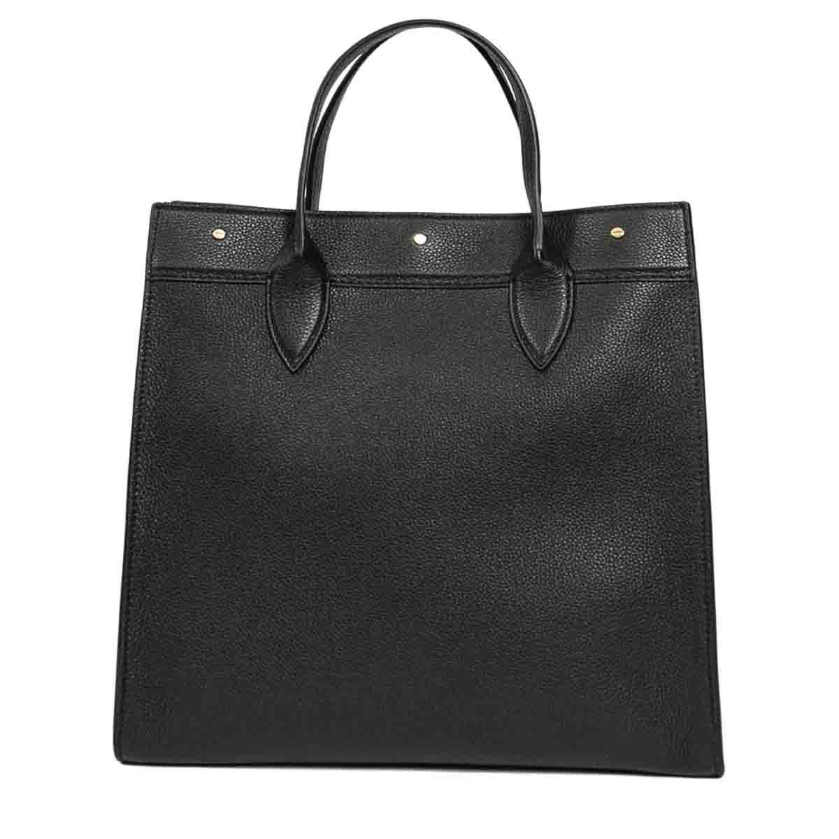 Borbonese BORBONESE WOMEN'S BLACK LEATHER HANDBAG