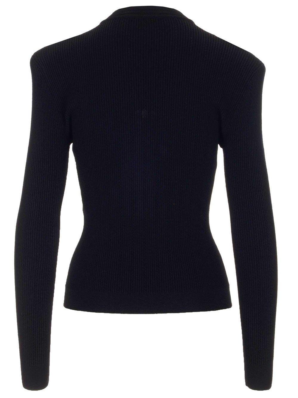 BALMAIN Jackets BALMAIN WOMEN'S BLACK OTHER MATERIALS JACKET