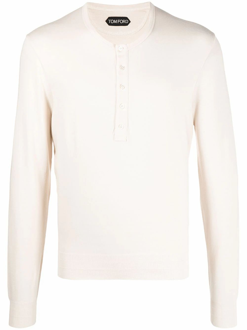 Tom Ford TOM FORD MEN'S BEIGE COTTON T-SHIRT