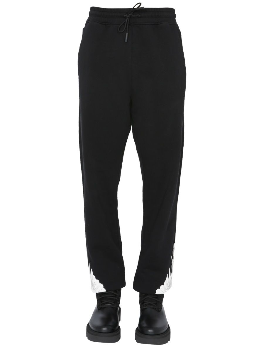 Marcelo Burlon County Of Milan MARCELO BURLON MEN'S BLACK OTHER MATERIALS JOGGERS