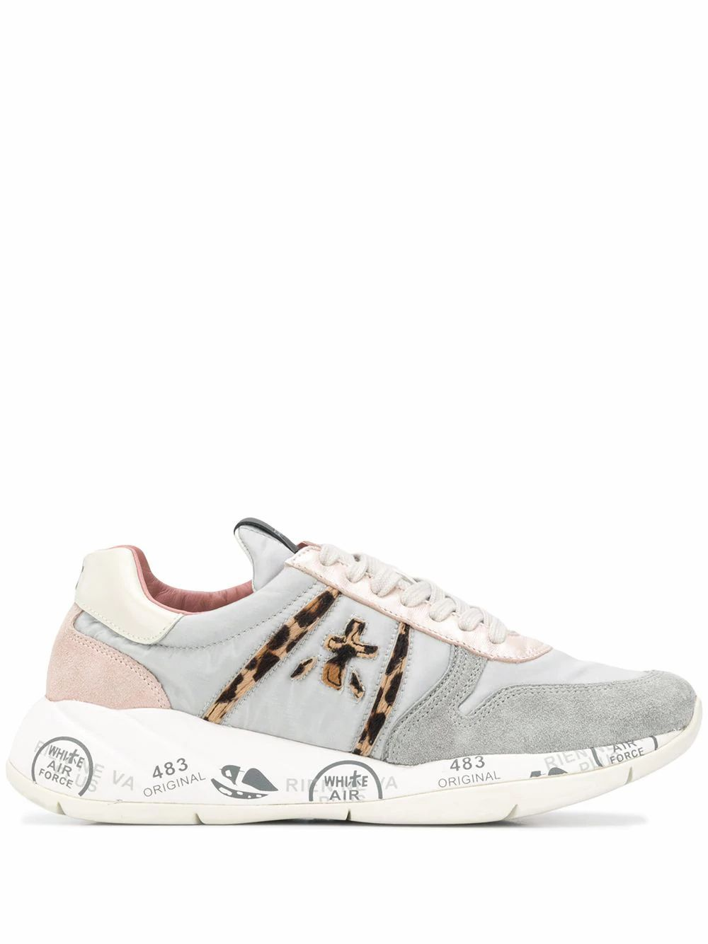 Premiata PREMIATA WOMEN'S GREY LEATHER SNEAKERS