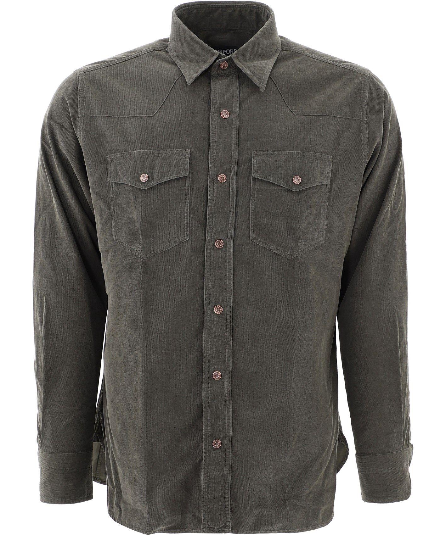 Tom Ford Men's Green Cotton Shirt