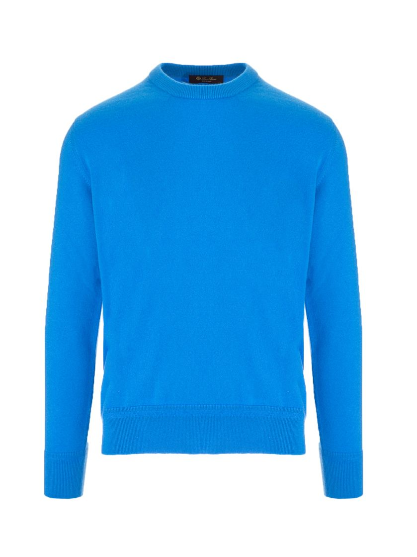 Loro Piana LORO PIANA MEN'S BLUE OTHER MATERIALS SWEATER