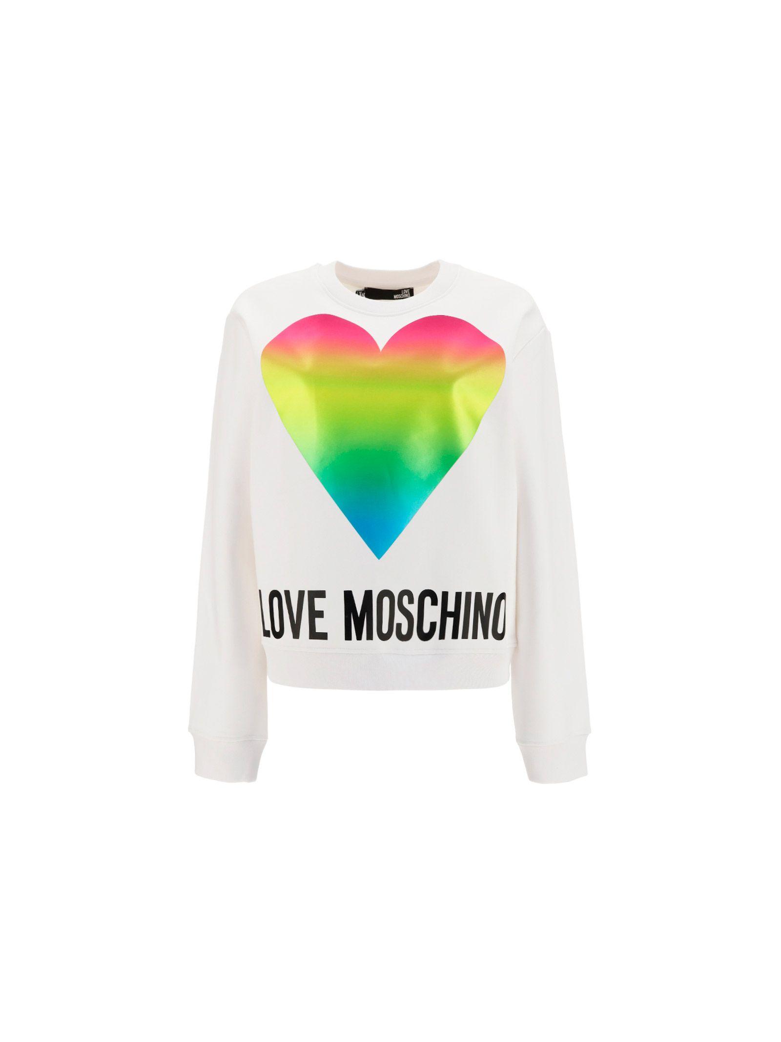 Love Moschino LOVE MOSCHINO WOMEN'S WHITE OTHER MATERIALS SWEATSHIRT