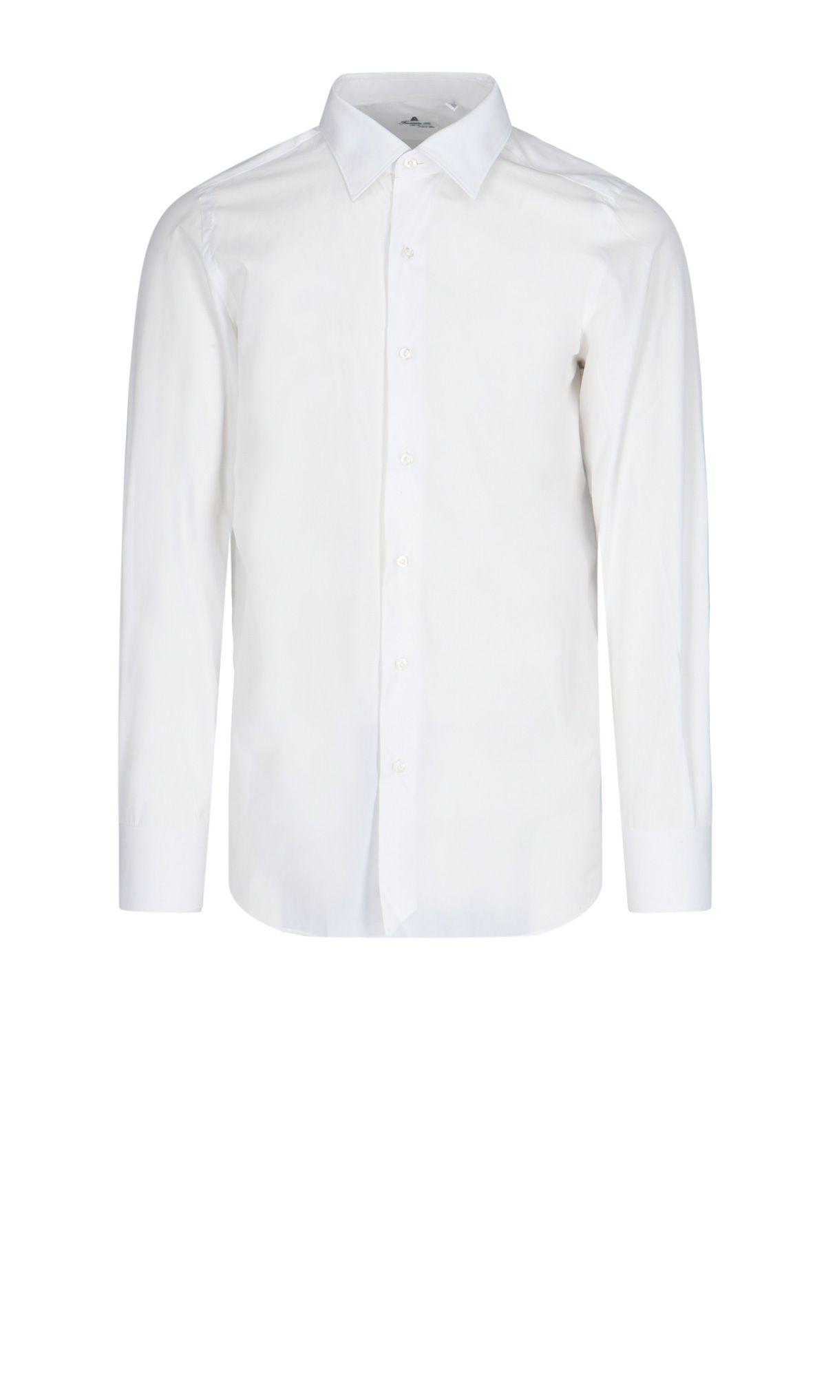 Finamore Cottons FINAMORE MEN'S WHITE COTTON SHIRT
