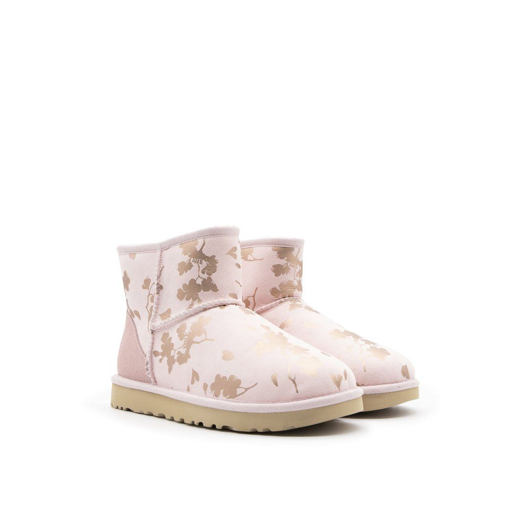 UGG Suedes UGG WOMEN'S PINK SUEDE ANKLE BOOTS