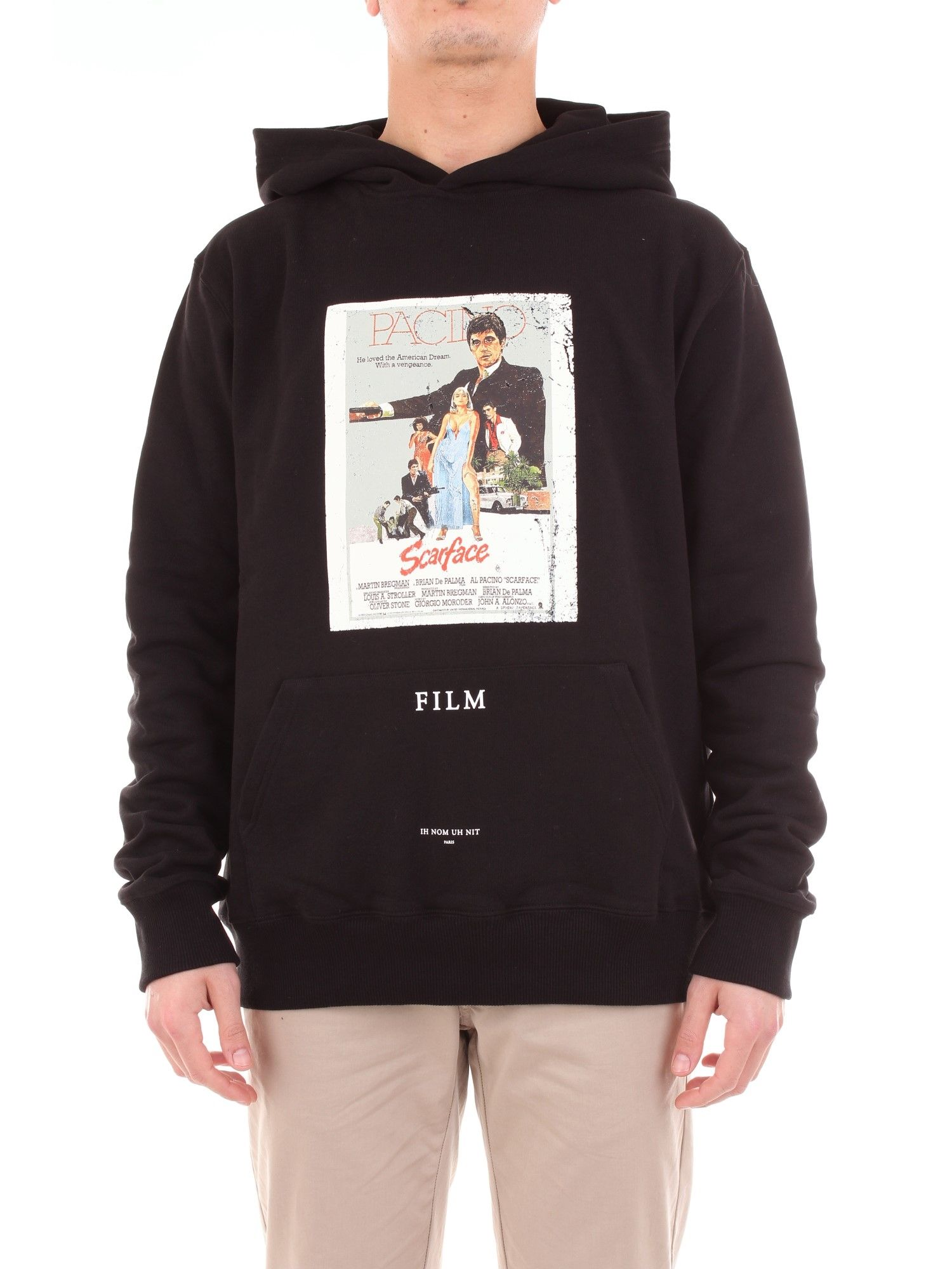 Ih Nom Uh Nit Black Cotton Sweatshirt