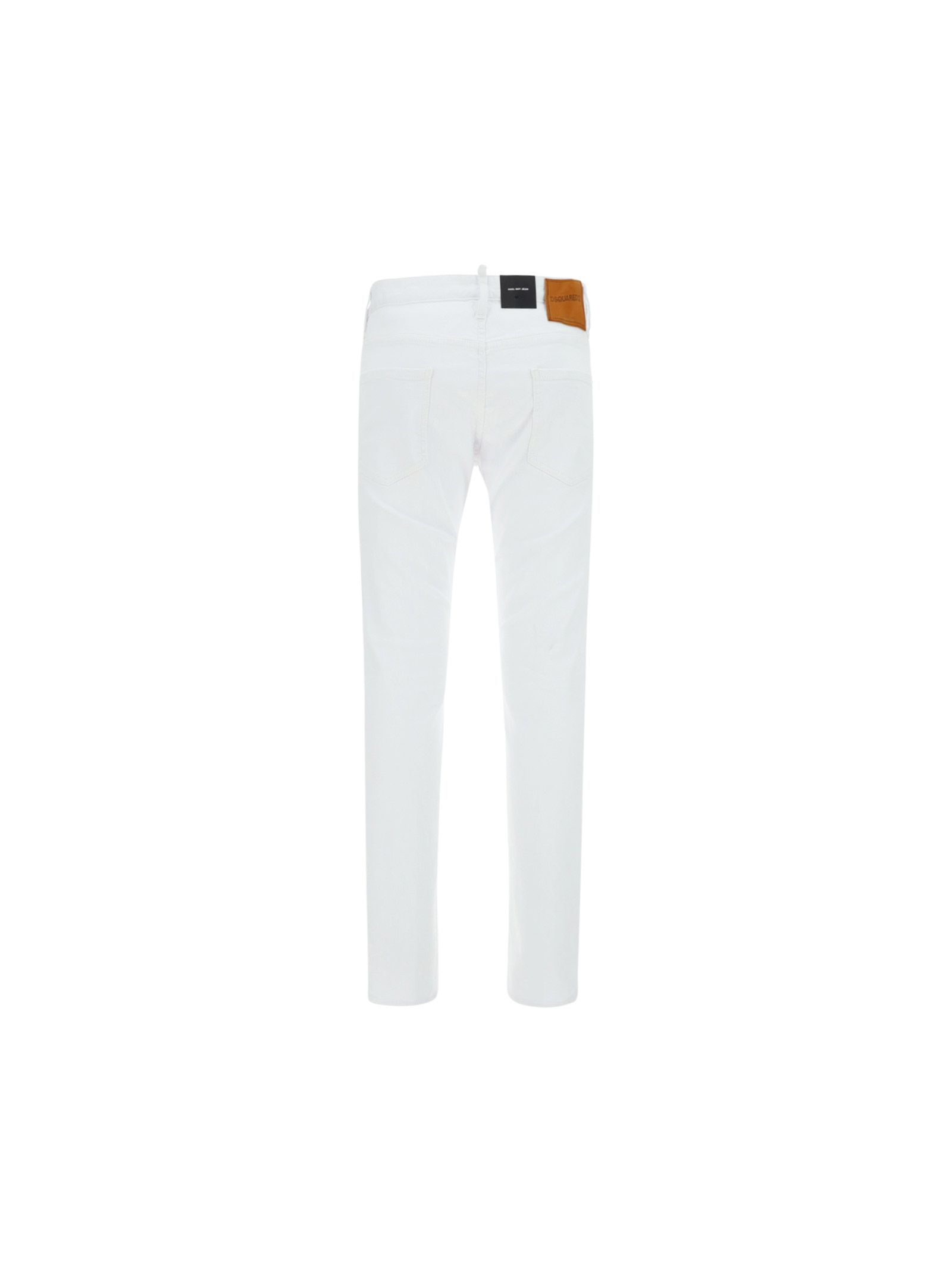 DSQUARED2 Cottons DSQUARED2 MEN'S WHITE OTHER MATERIALS JEANS