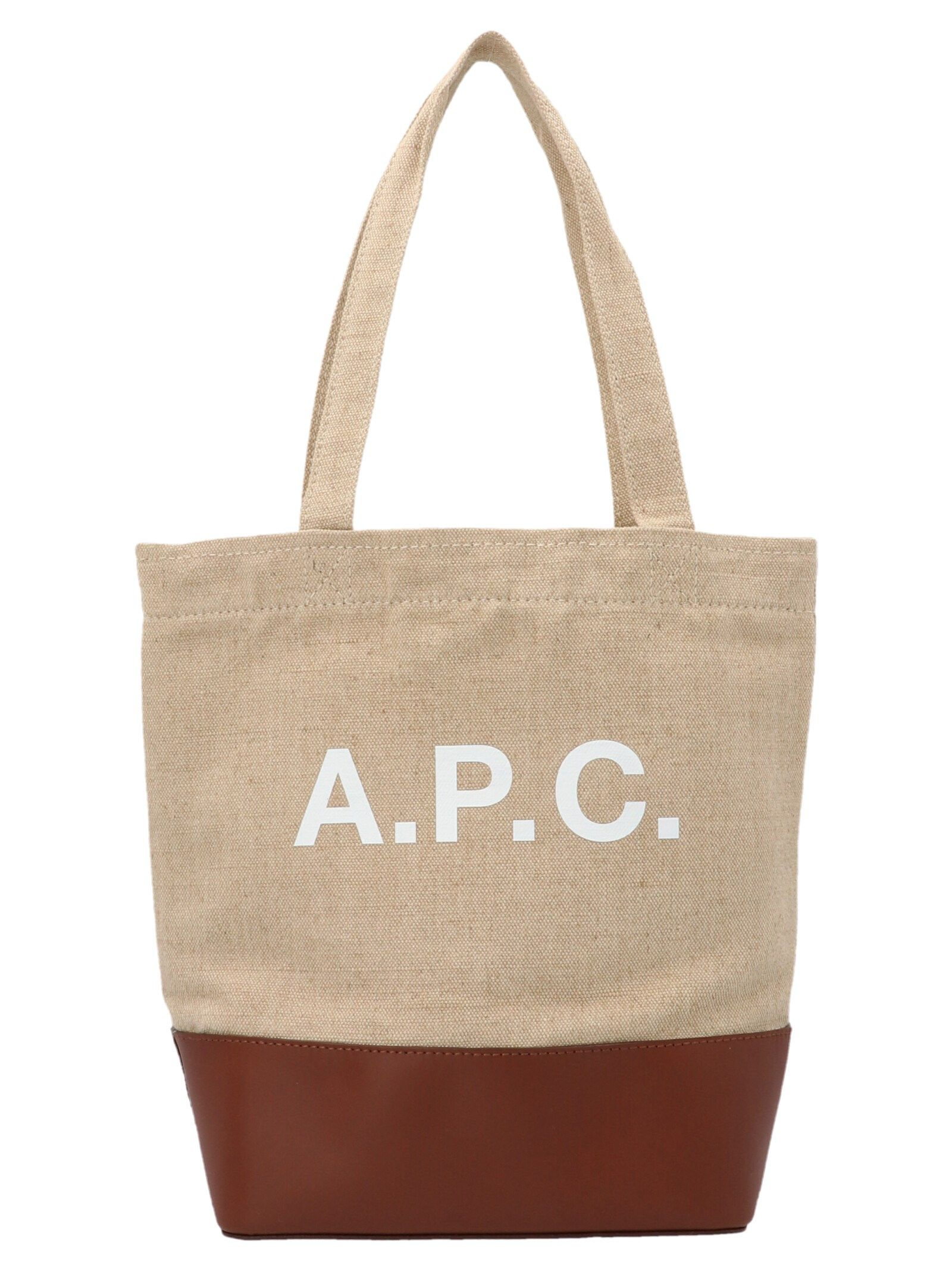 A.p.c. Axelle Small Tote In Beige