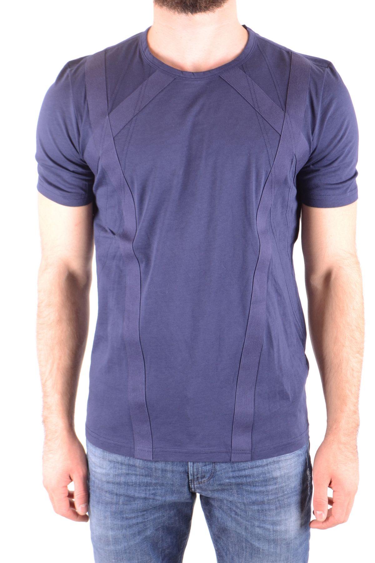 Diesel Black Gold Blue Cotton T-Shirt