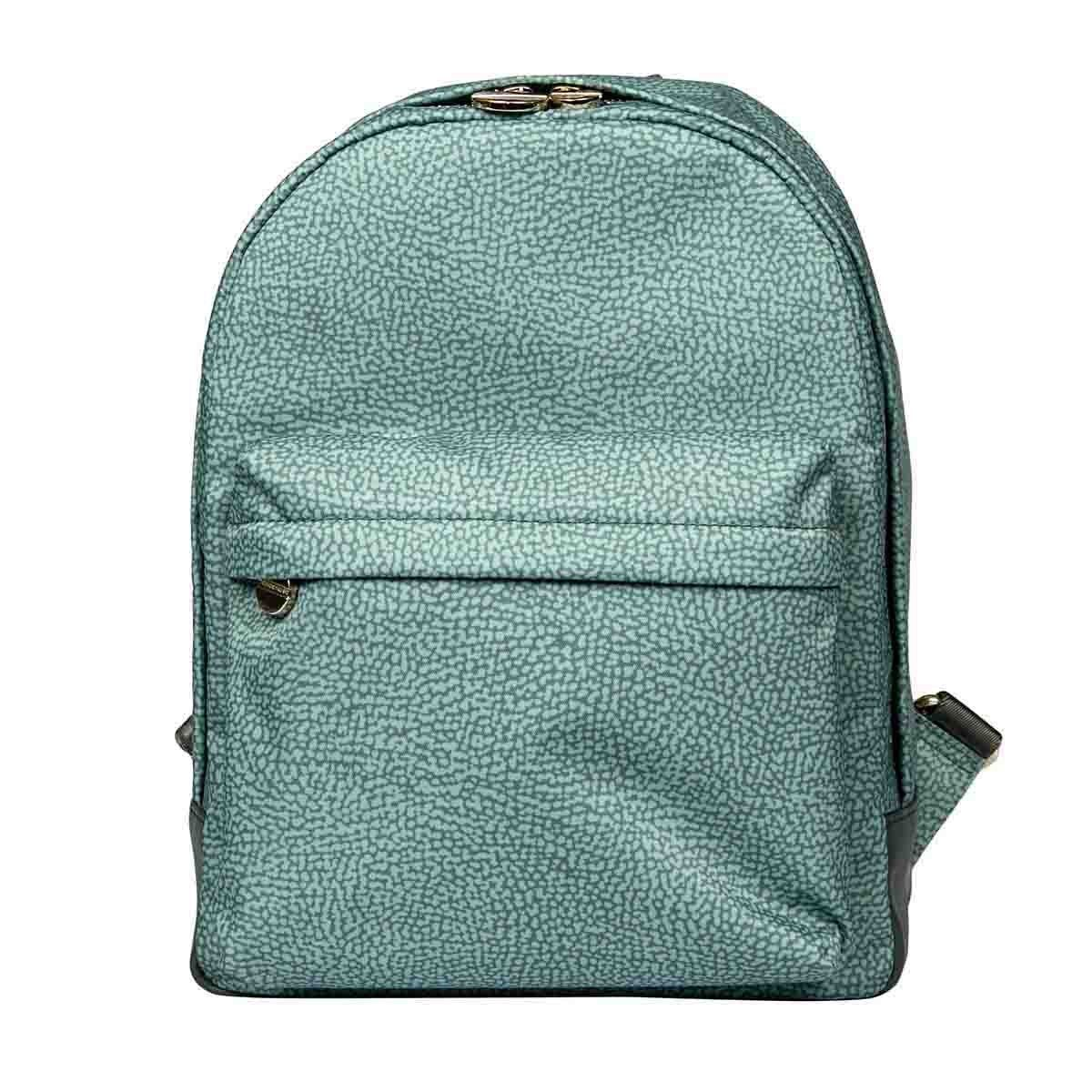 Borbonese BORBONESE WOMEN'S GREEN POLYESTER BACKPACK