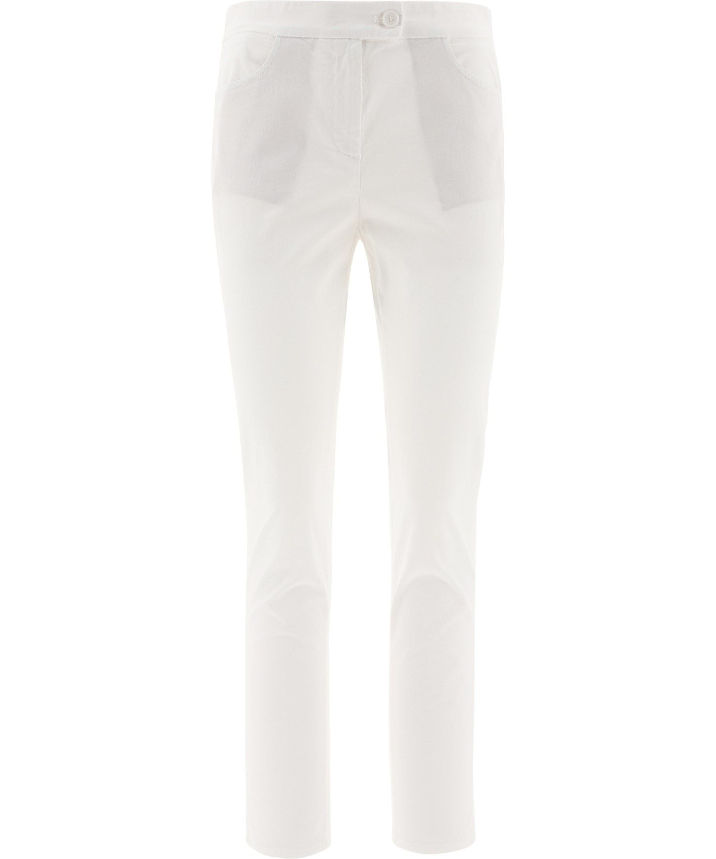 Aspesi Cottons ASPESI WOMEN'S WHITE COTTON PANTS