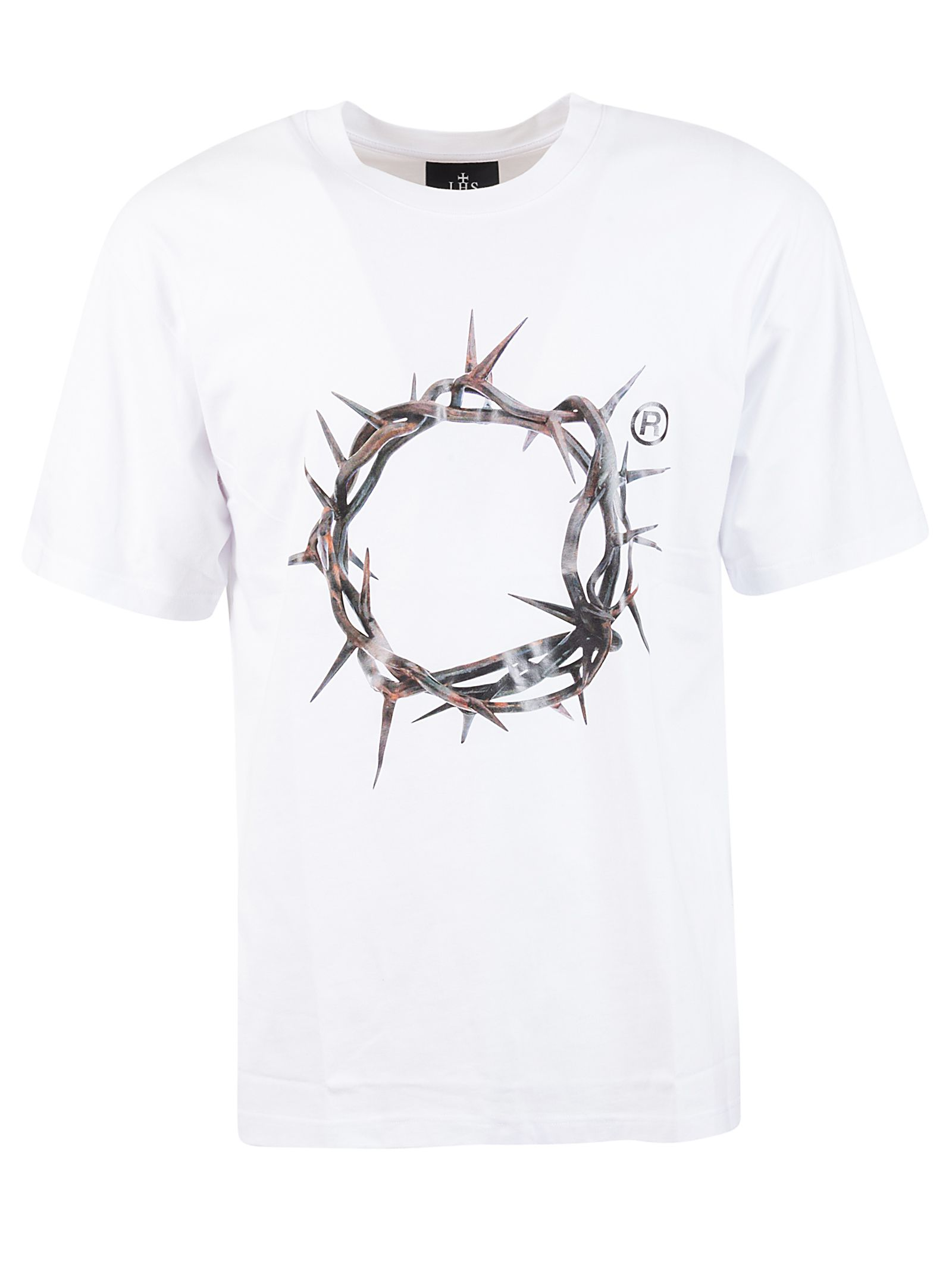 Ihs White Cotton T-shirt