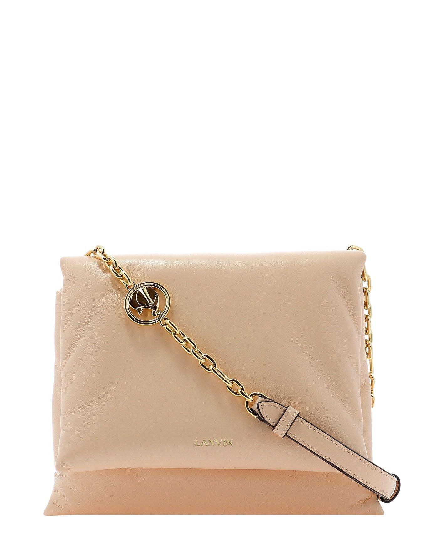 Lanvin LANVIN WOMEN'S PINK OTHER MATERIALS SHOULDER BAG