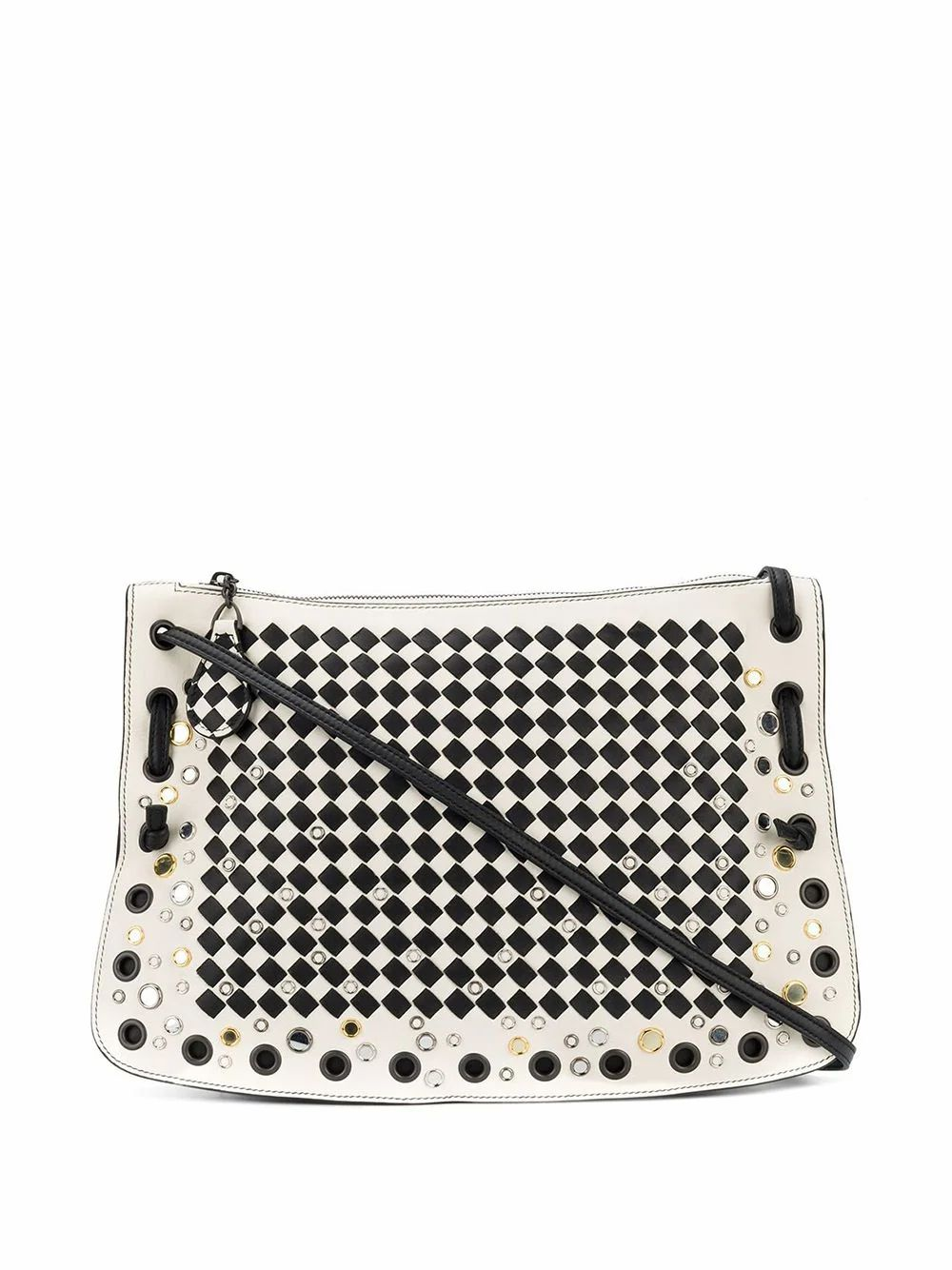 Bottega Veneta BOTTEGA VENETA WOMEN'S WHITE LEATHER SHOULDER BAG