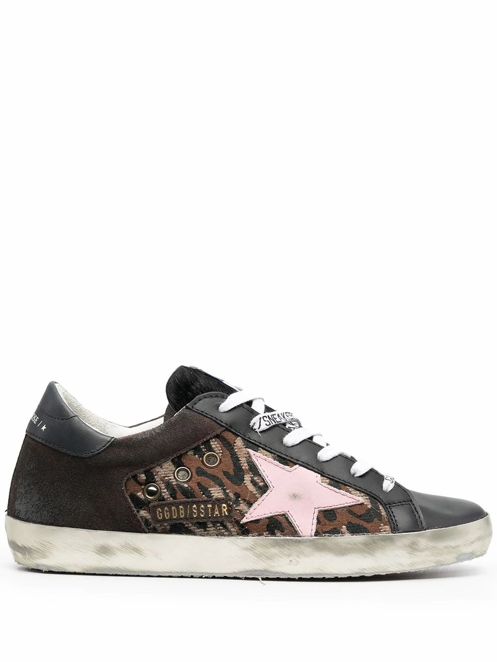 Golden Goose Leathers GOLDEN GOOSE WOMEN'S BLACK LEATHER SNEAKERS