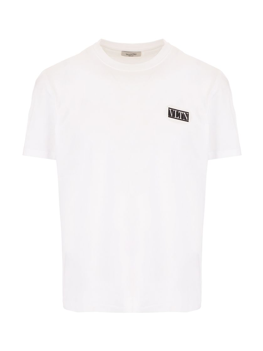 Valentino VALENTINO MEN'S WHITE OTHER MATERIALS T-SHIRT