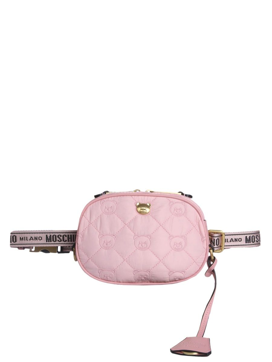 Moschino MOSCHINO WOMEN'S PINK POLYAMIDE BELT BAG