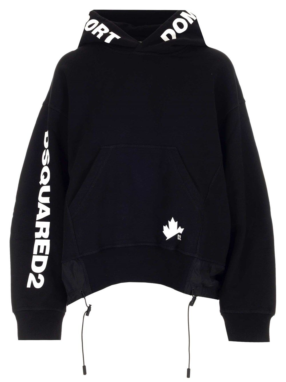 Dsquared2 DSQUARED2 WOMEN'S BLACK OTHER MATERIALS SWEATSHIRT